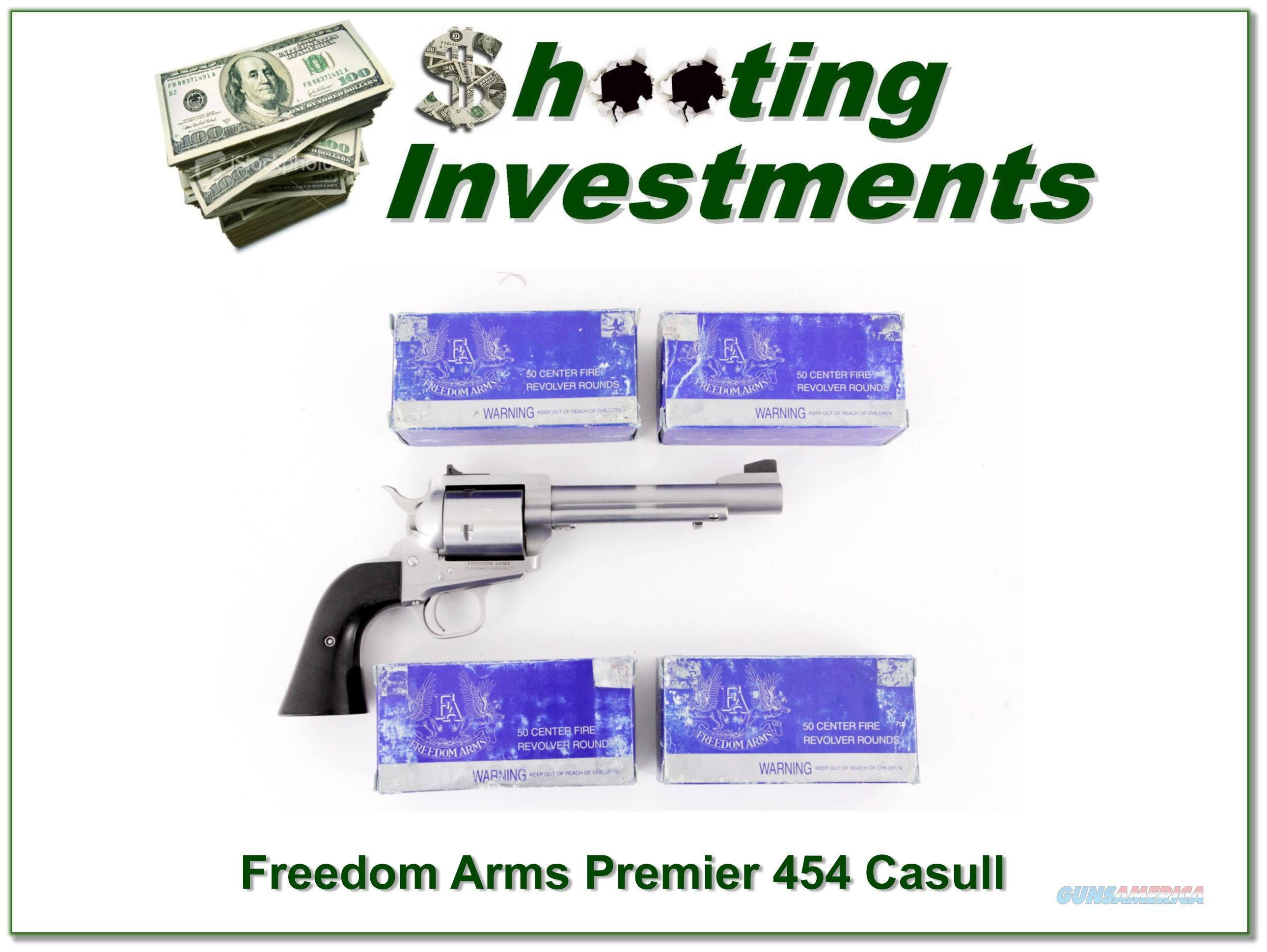 Freedom Arms Premier Grade 454 Casull with ammo  Guns > Pistols > Freedom Arms Pistols