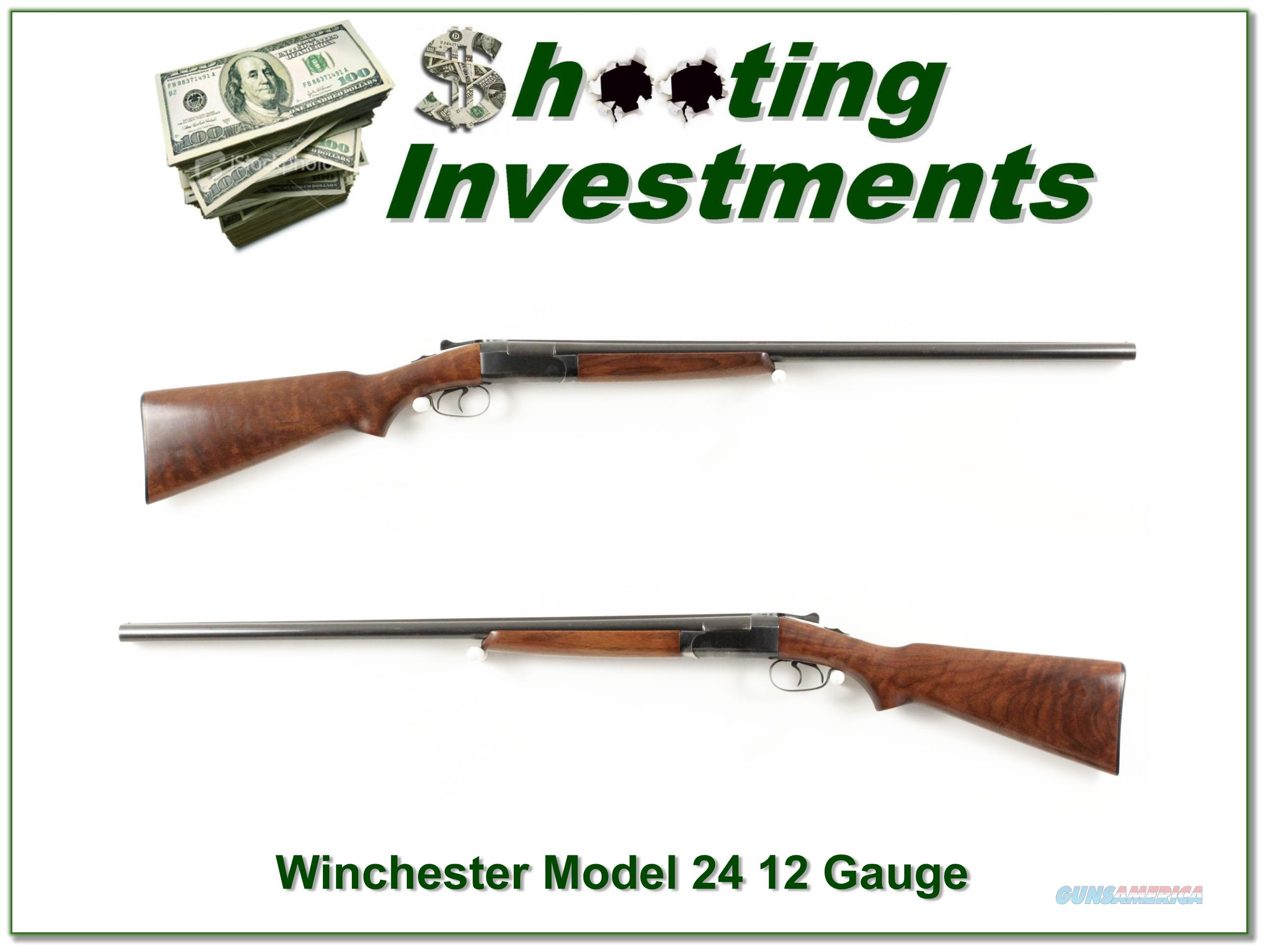 Winchester Model 24 12 Gauge made in 1950 28in  Guns > Shotguns > Winchester Shotguns - Modern > SxS