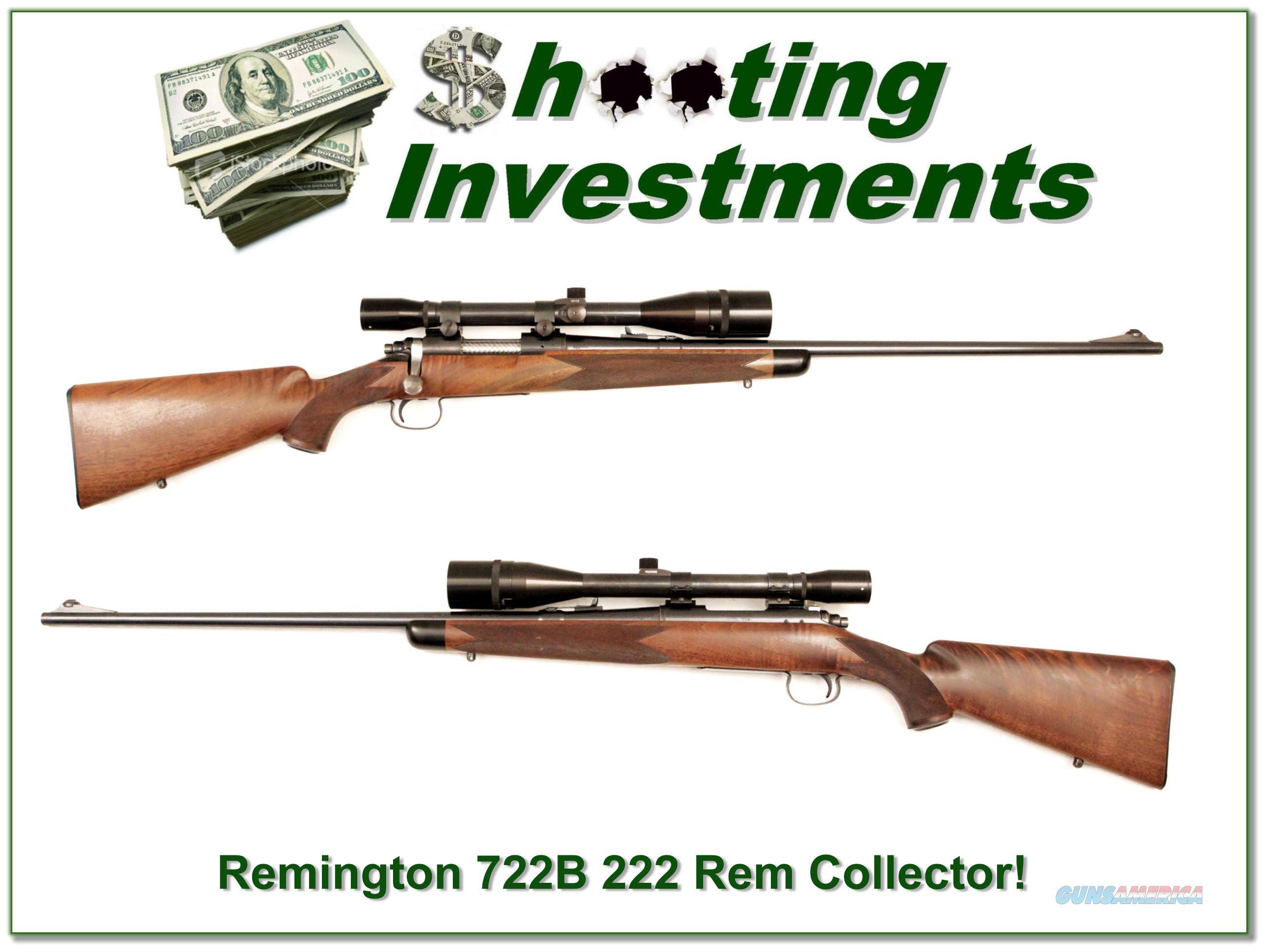 Remington Model 722B 222 Rem with Unertl 10x scope  Guns > Rifles > Remington Rifles - Modern > Bolt Action Non-Model 700 > Sporting