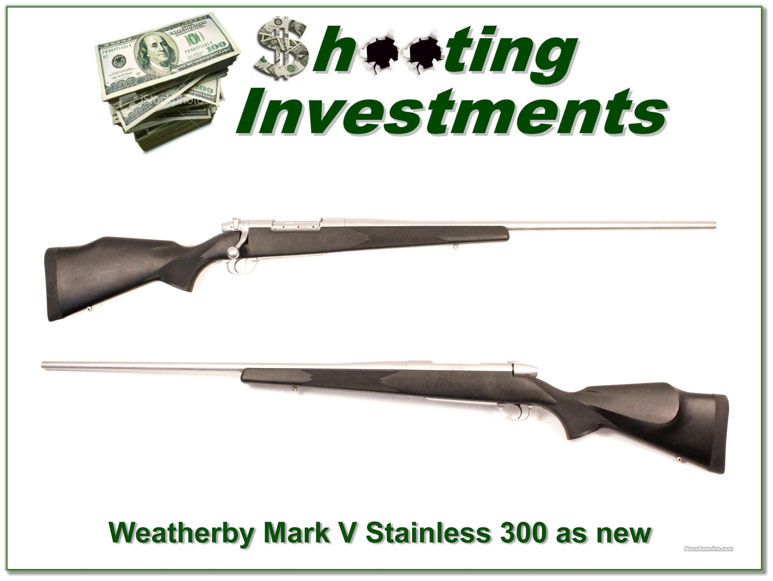 Weatherby Mark V Stainless 300 Exc Cond!  Guns > Rifles > Weatherby Rifles > Sporting