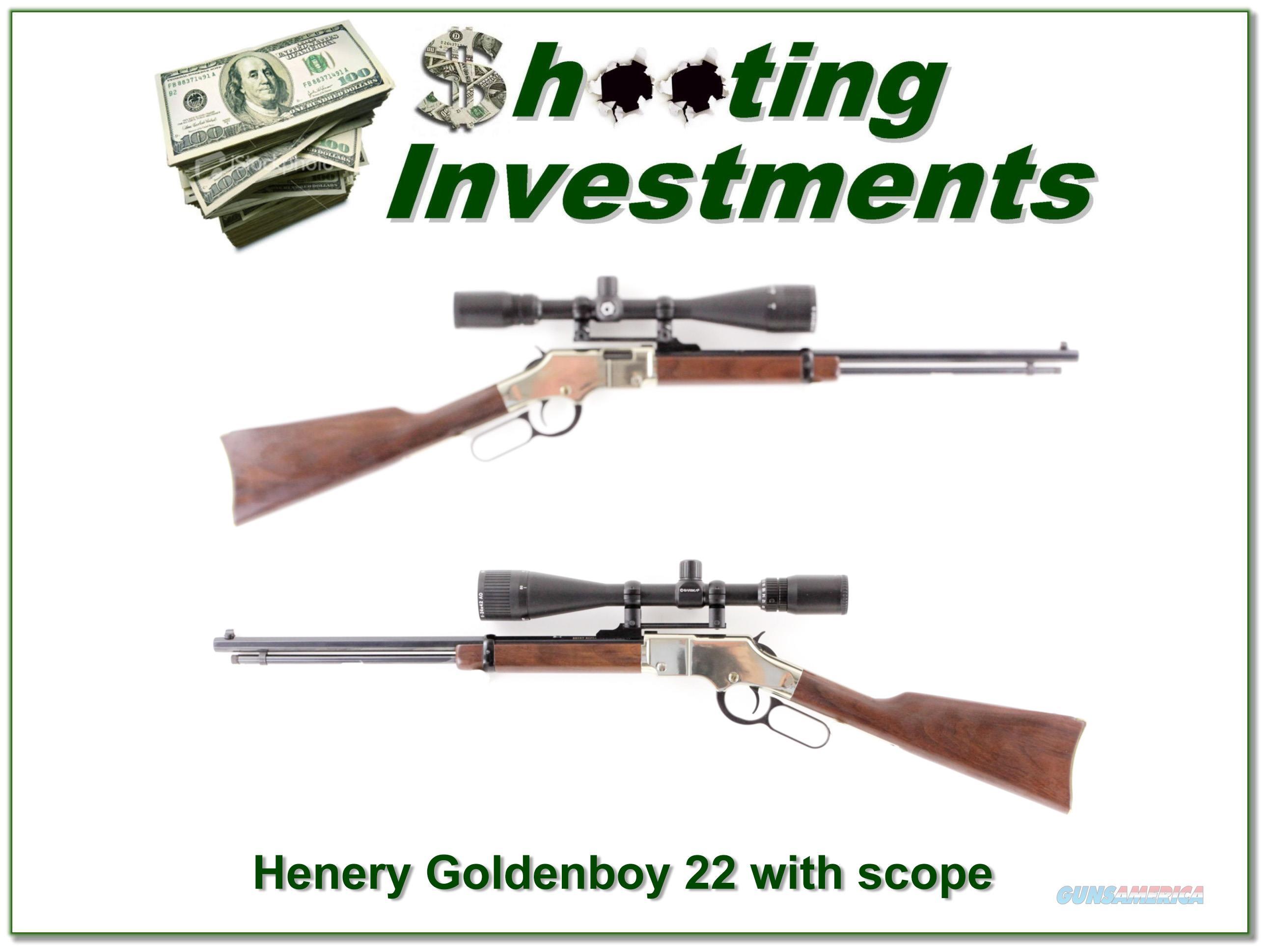 Henry Goldenboy 2LR with Barska 6-24 Target scope  Guns > Rifles > Henry Rifle Company