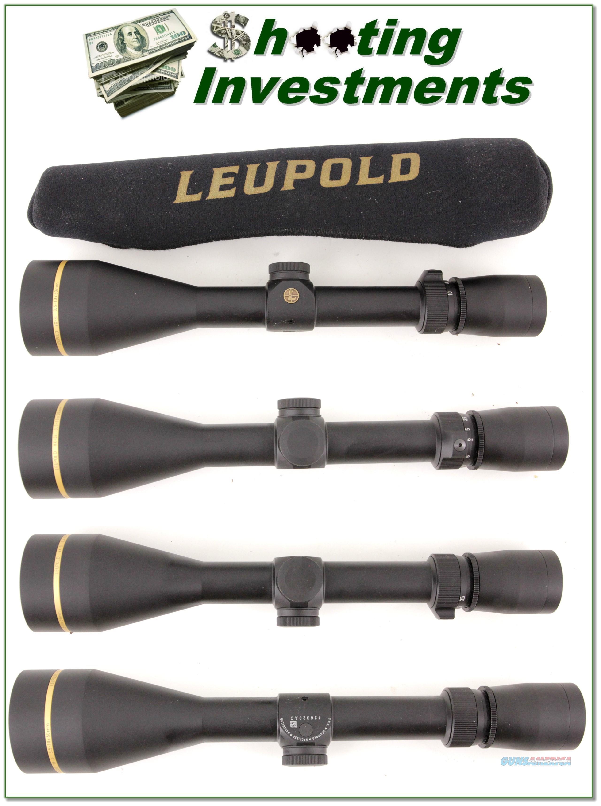 New Condition Leupold VX-3i 3.5-10x50mm Riflescope  Non-Guns > Scopes/Mounts/Rings & Optics > Rifle Scopes > Variable Focal Length