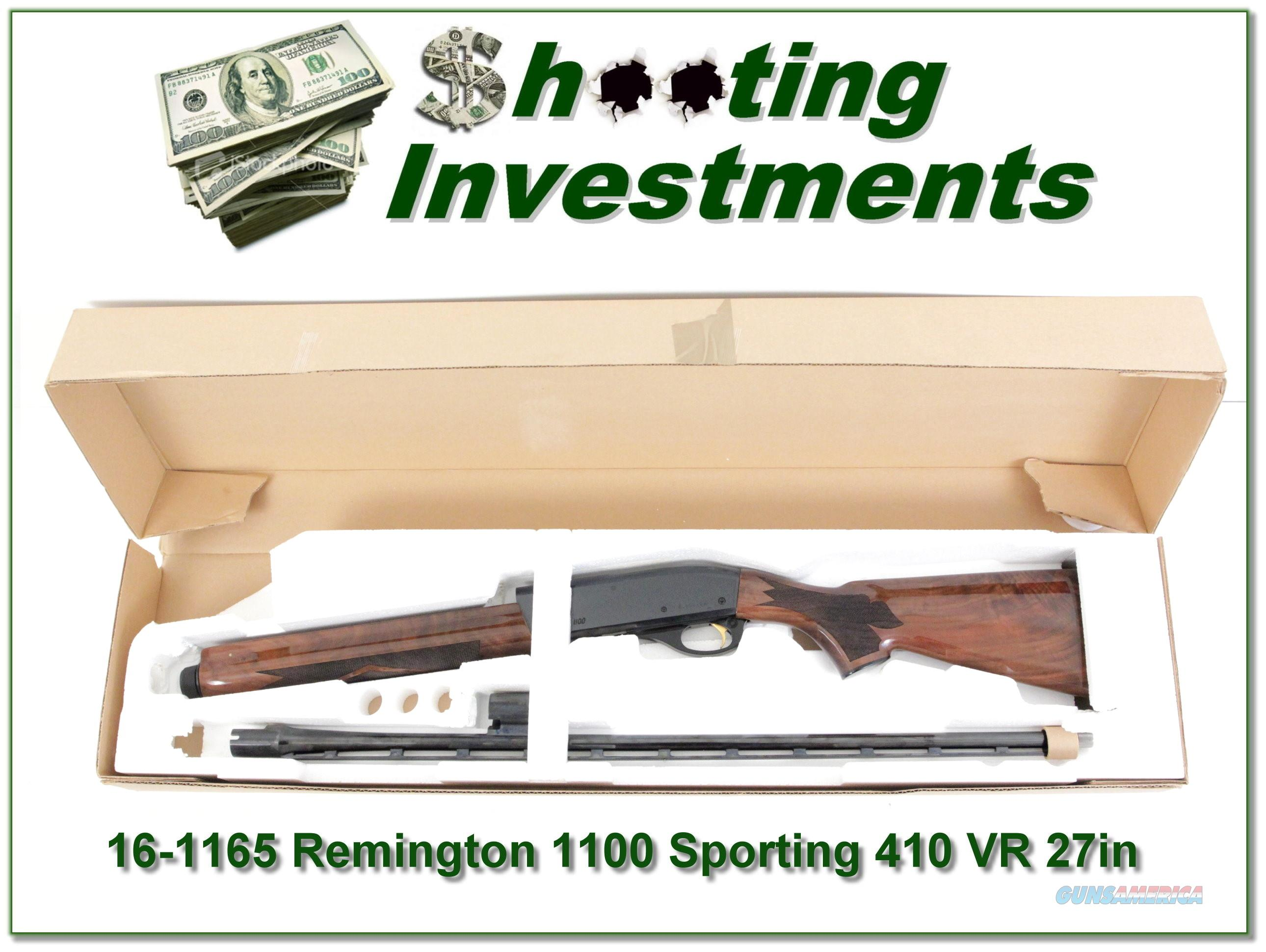 Remington 1100 Sporting 410 ANIB  Guns > Shotguns > Remington Shotguns  > Autoloaders > Hunting