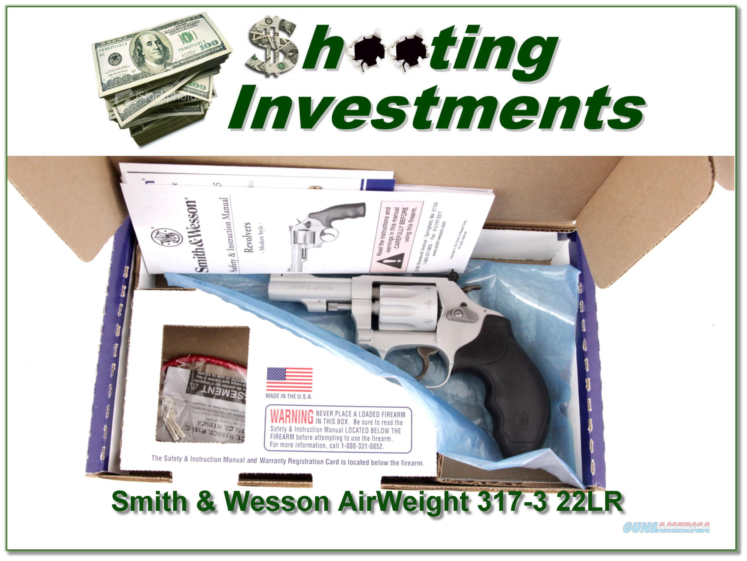 Smith & Wesson 317 Airweight 22LR ANIB  Guns > Pistols > Smith & Wesson Revolvers > Small Frame ( J )