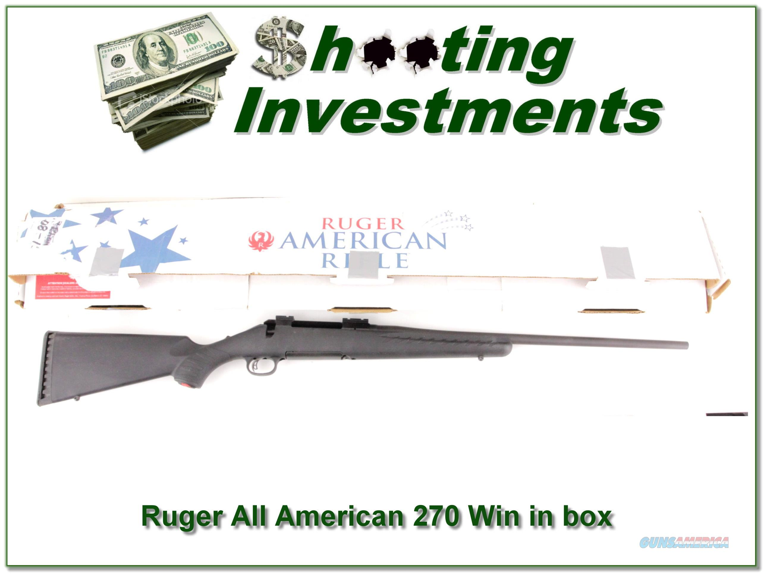 Ruger American 270 Winchester in box!  Guns > Rifles > Ruger Rifles > American Rifle