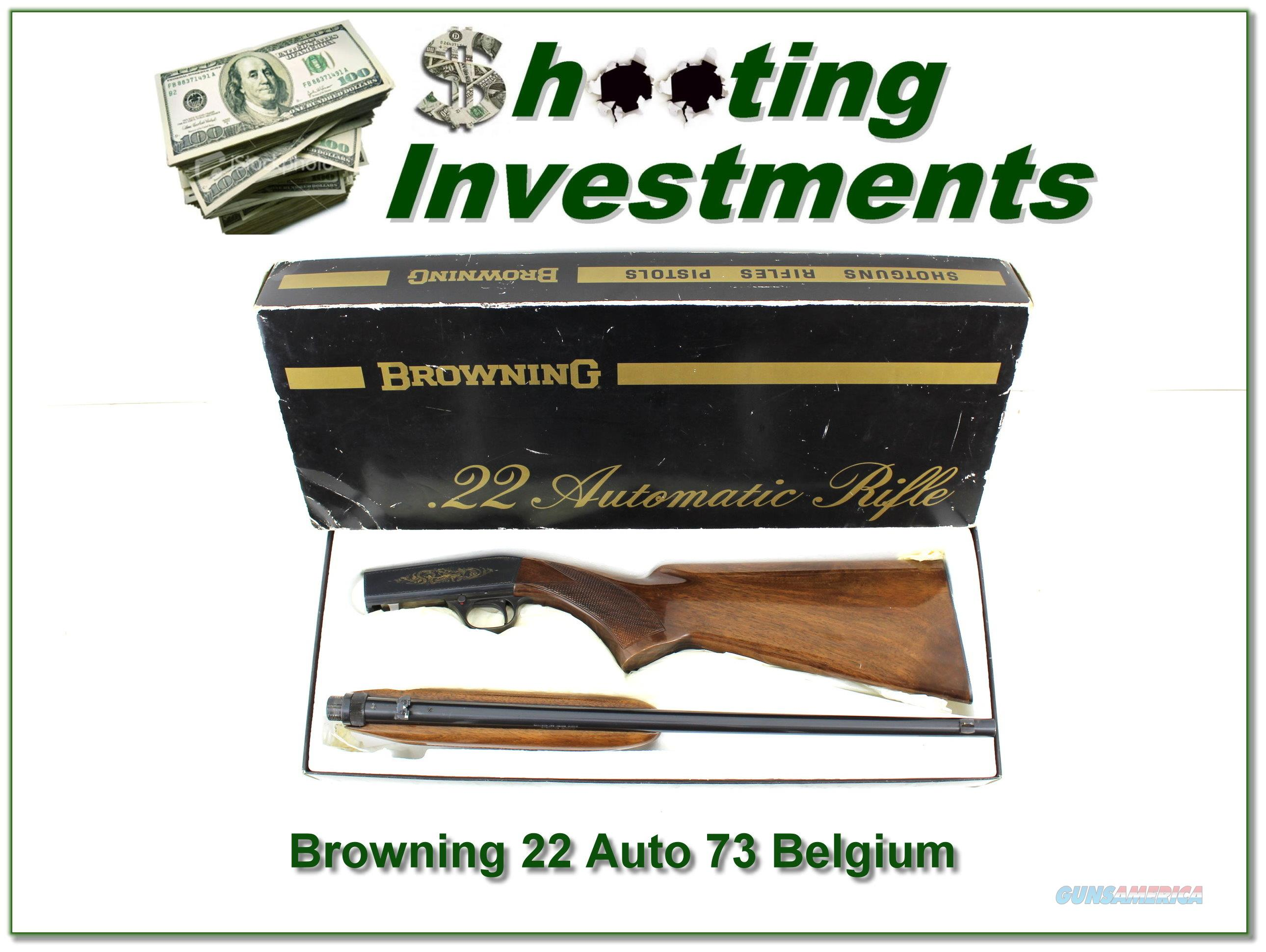 1973 Belgium Browning 22 Auto ANIB!  Guns > Rifles > Browning Rifles > Semi Auto > Hunting