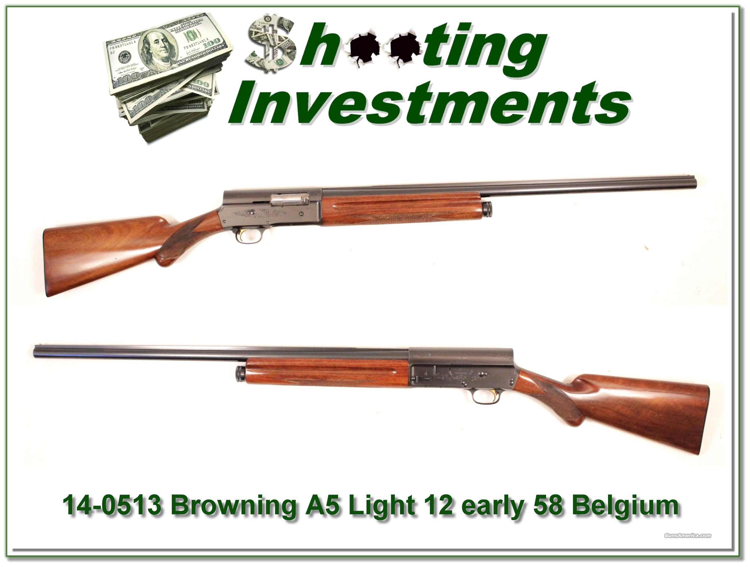 Browning A5 Light 12 58 Belgium  Guns > Shotguns > Browning Shotguns > Autoloaders > Hunting