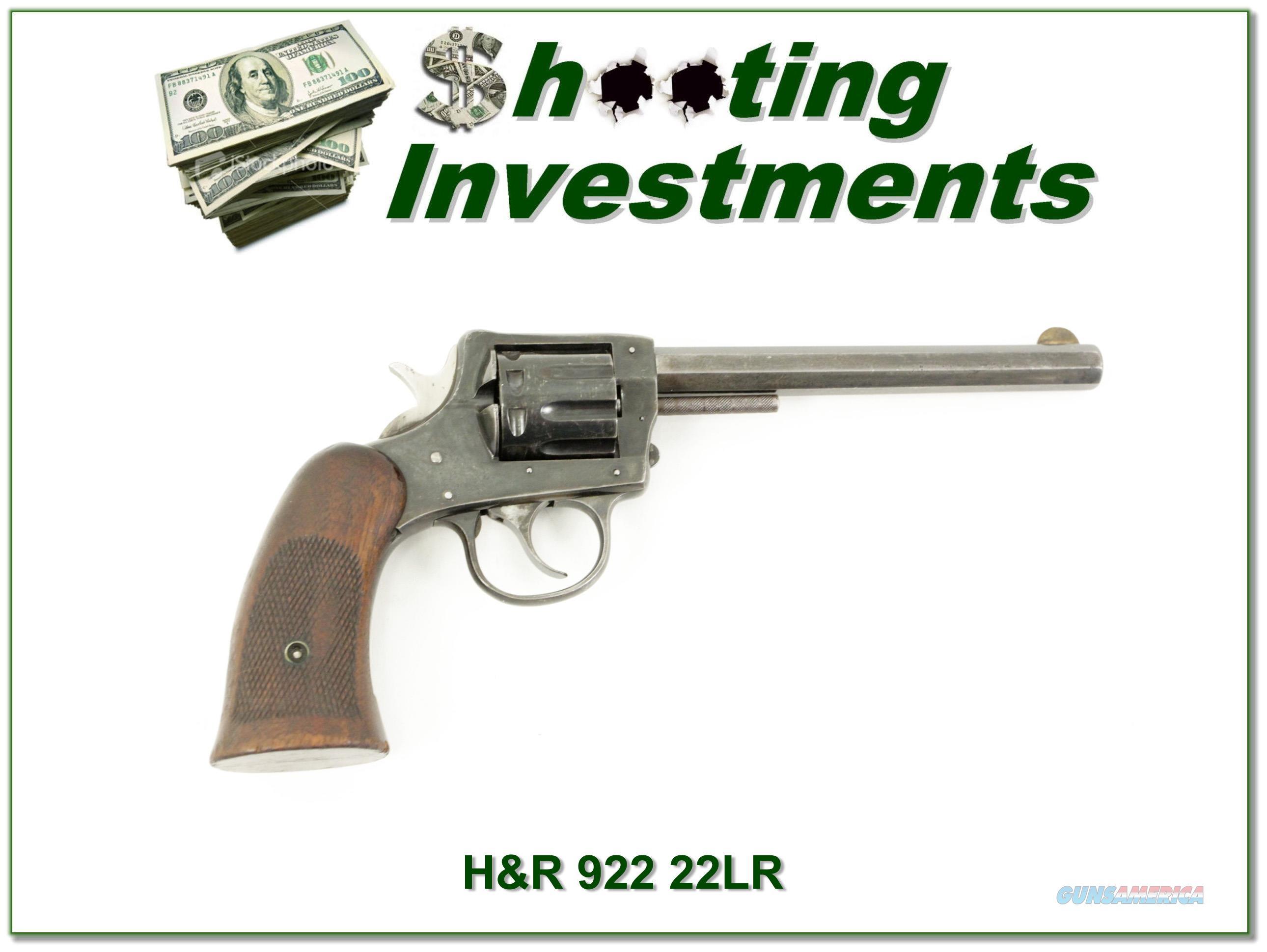 Harrington & Richardson H&R 922 22 Double Action  Guns > Pistols > Harrington & Richardson Pistols