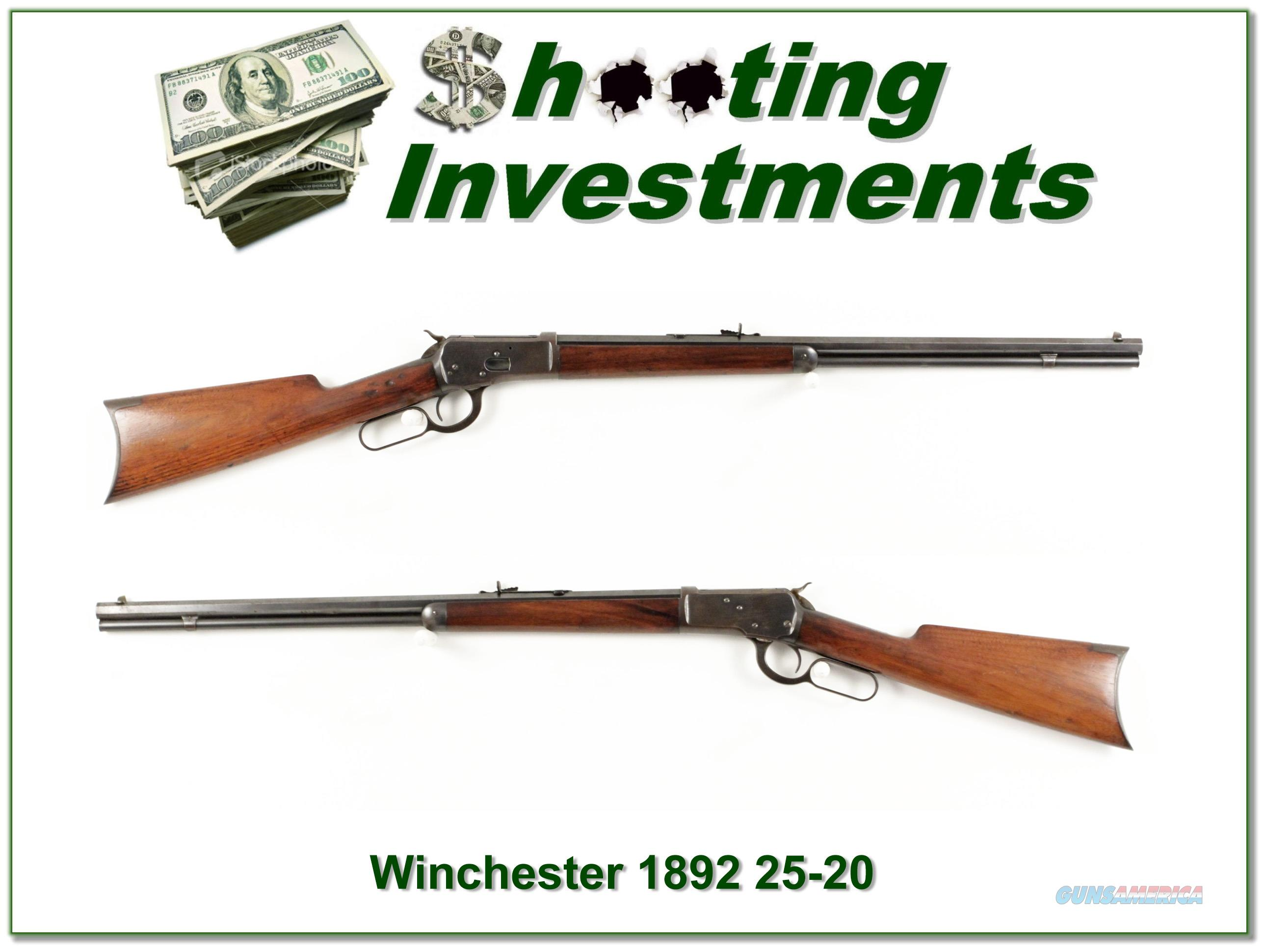 Winchester 1892 25-20 WCF made in 1907  Guns > Rifles > Winchester Rifles - Modern Lever > Other Lever > Pre-64