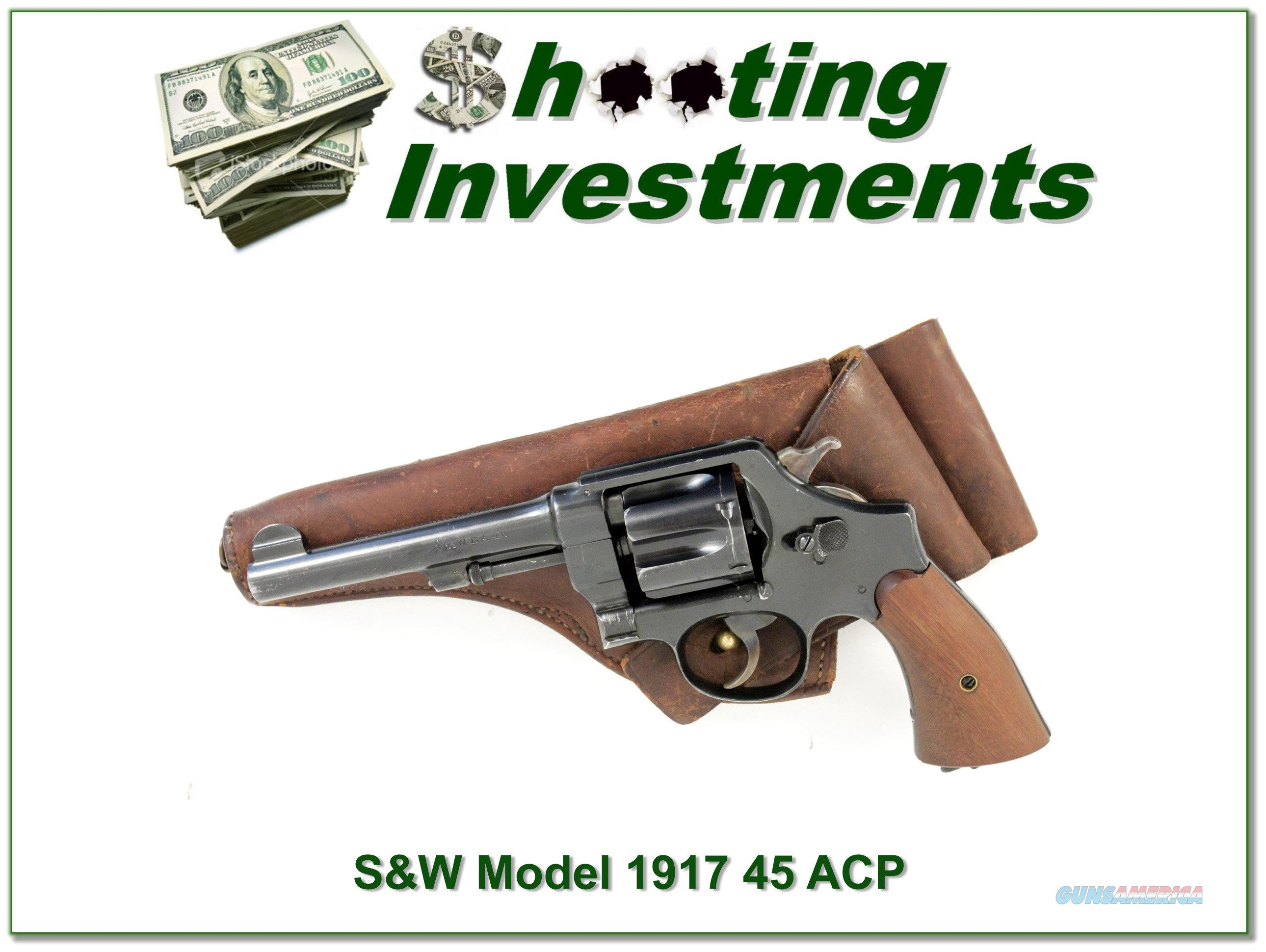 Smith & Wesson Model 1917 in 45 ACP made in 1918  Guns > Pistols > Smith & Wesson Revolvers > Full Frame Revolver