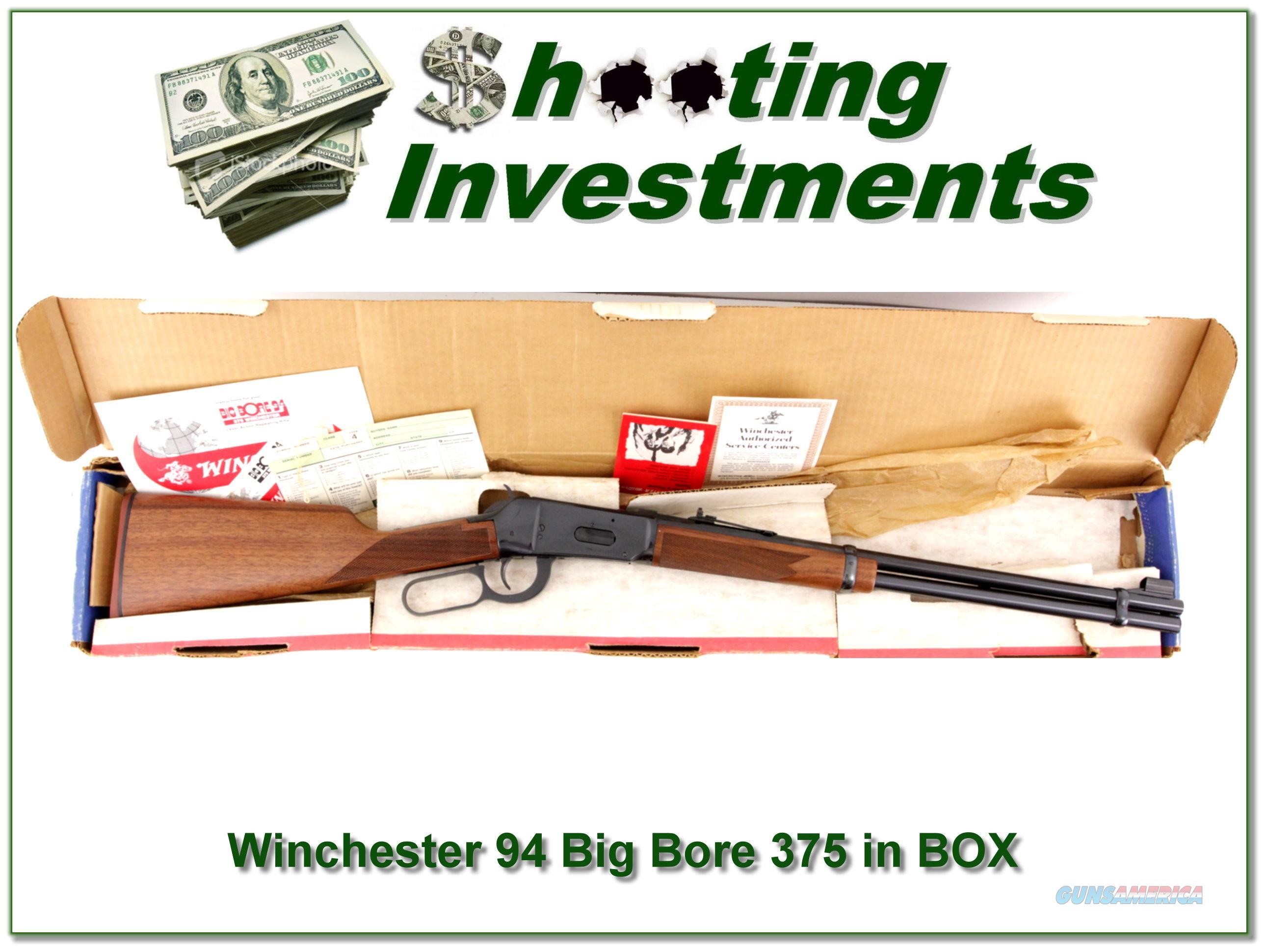 Winchester 94 XTR Big Bore early 375 Win NIB!!!  Guns > Rifles > Winchester Rifles - Modern Lever > Model 94 > Post-64