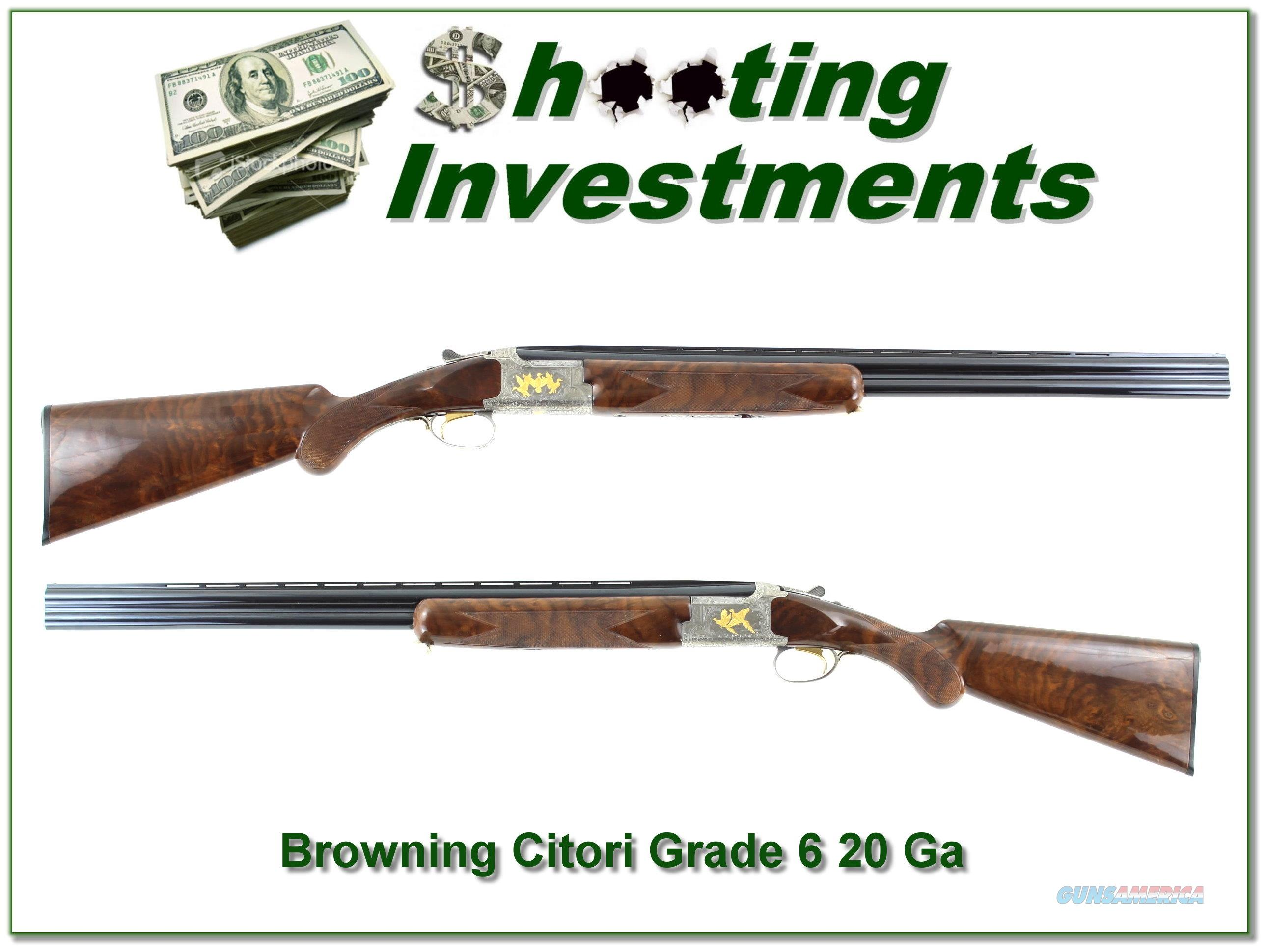 Browning Citori Grade 6 unfired 20 Gauge!  Guns > Shotguns > Browning Shotguns > Over Unders > Citori > Hunting