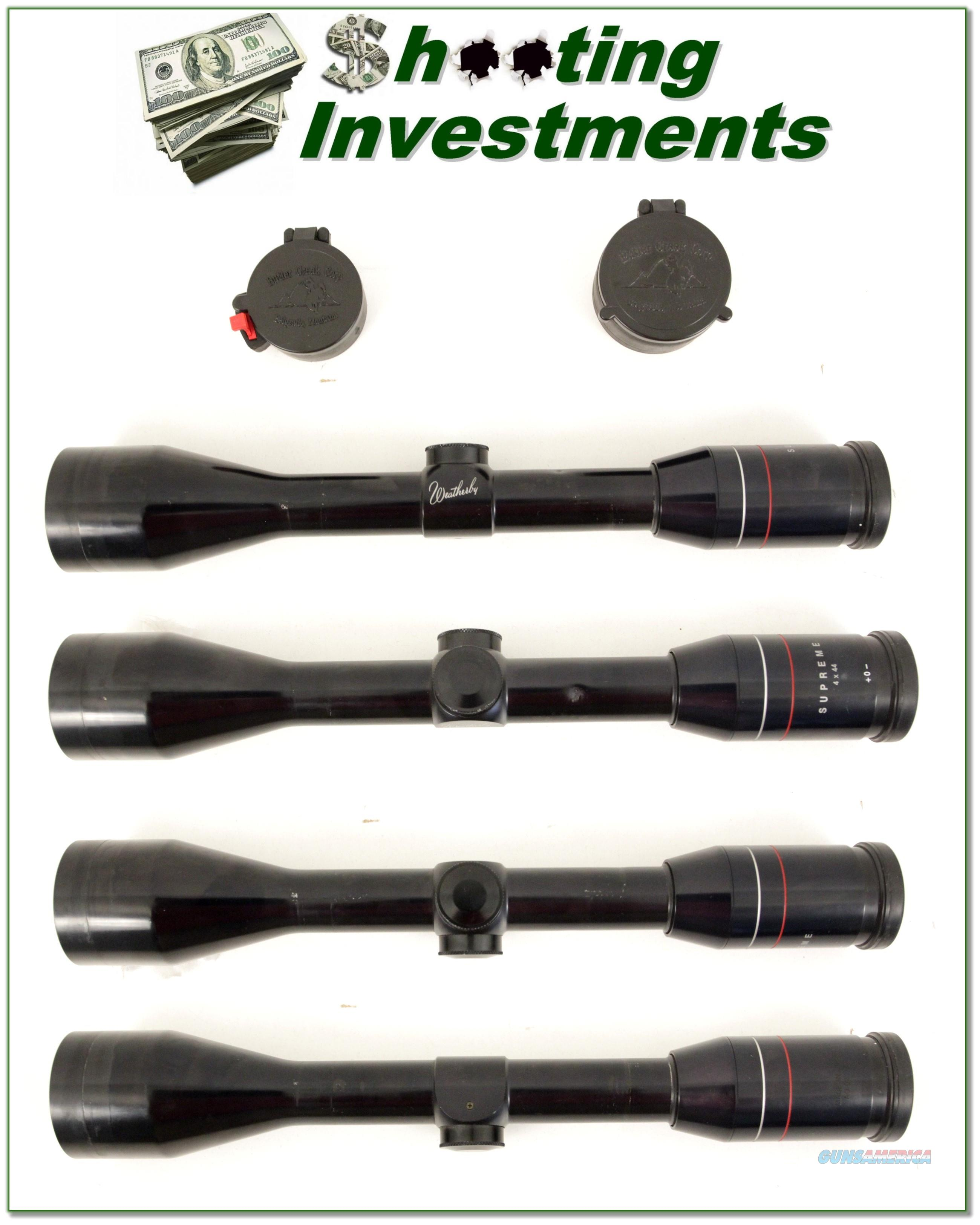 Weatherby Supreme 4 X 44 Scope With Covers For Sale