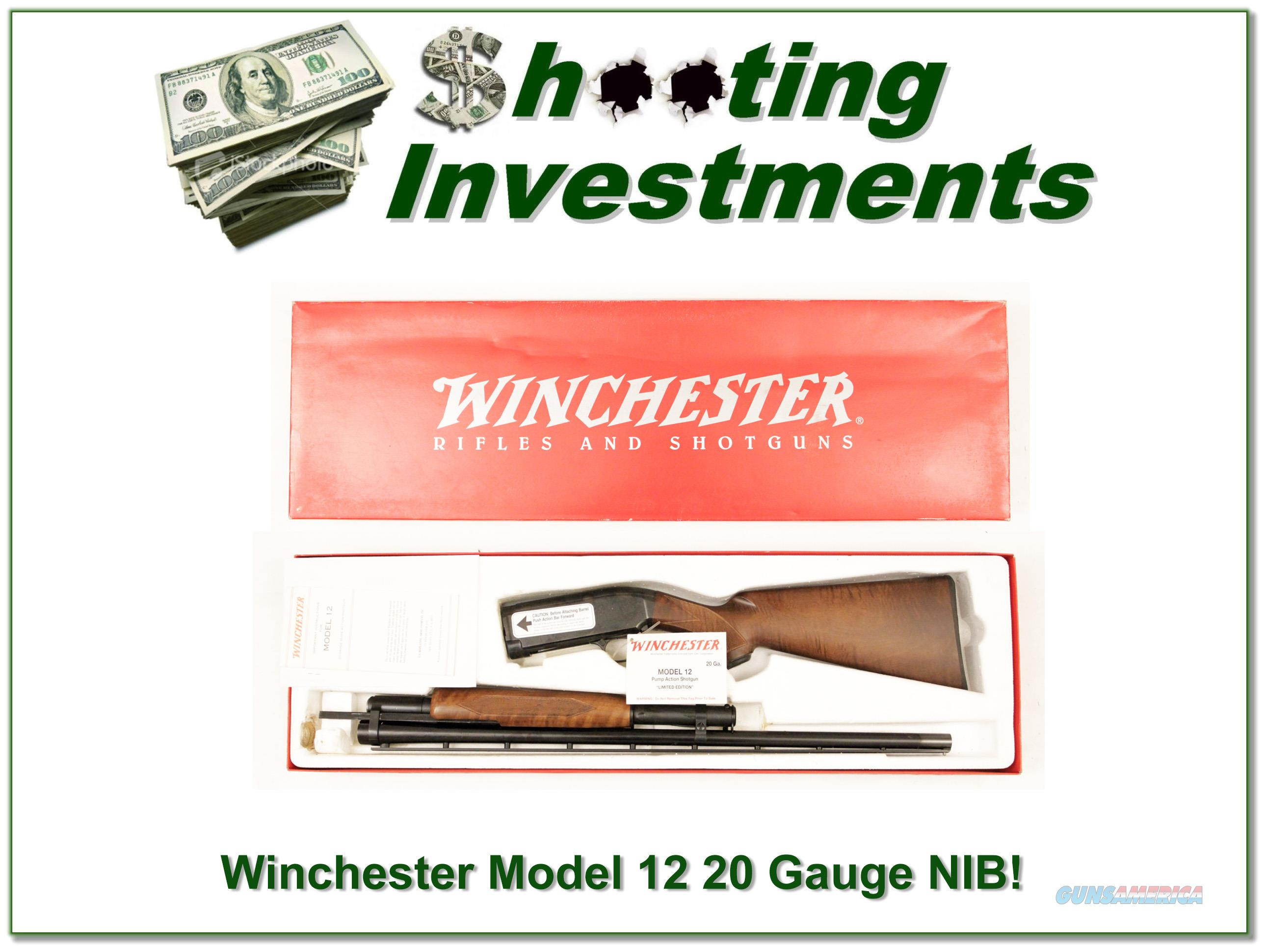 Winchester Model 12 Limited Edition 20 Gauge NIB!  Guns > Shotguns > Winchester Shotguns - Modern > Pump Action > Hunting