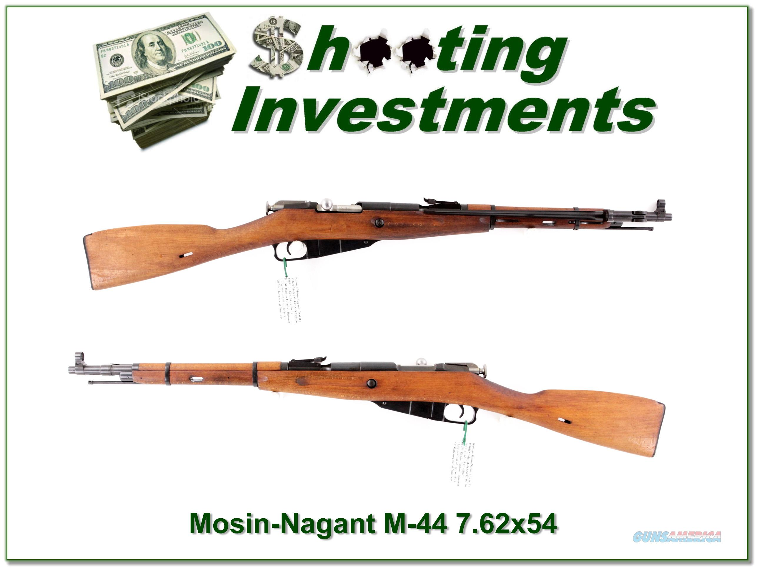 Russian Mosin-Nagant M-44 in 7.62x54 as new all matching  Guns > Rifles > Mosin-Nagant Rifles/Carbines