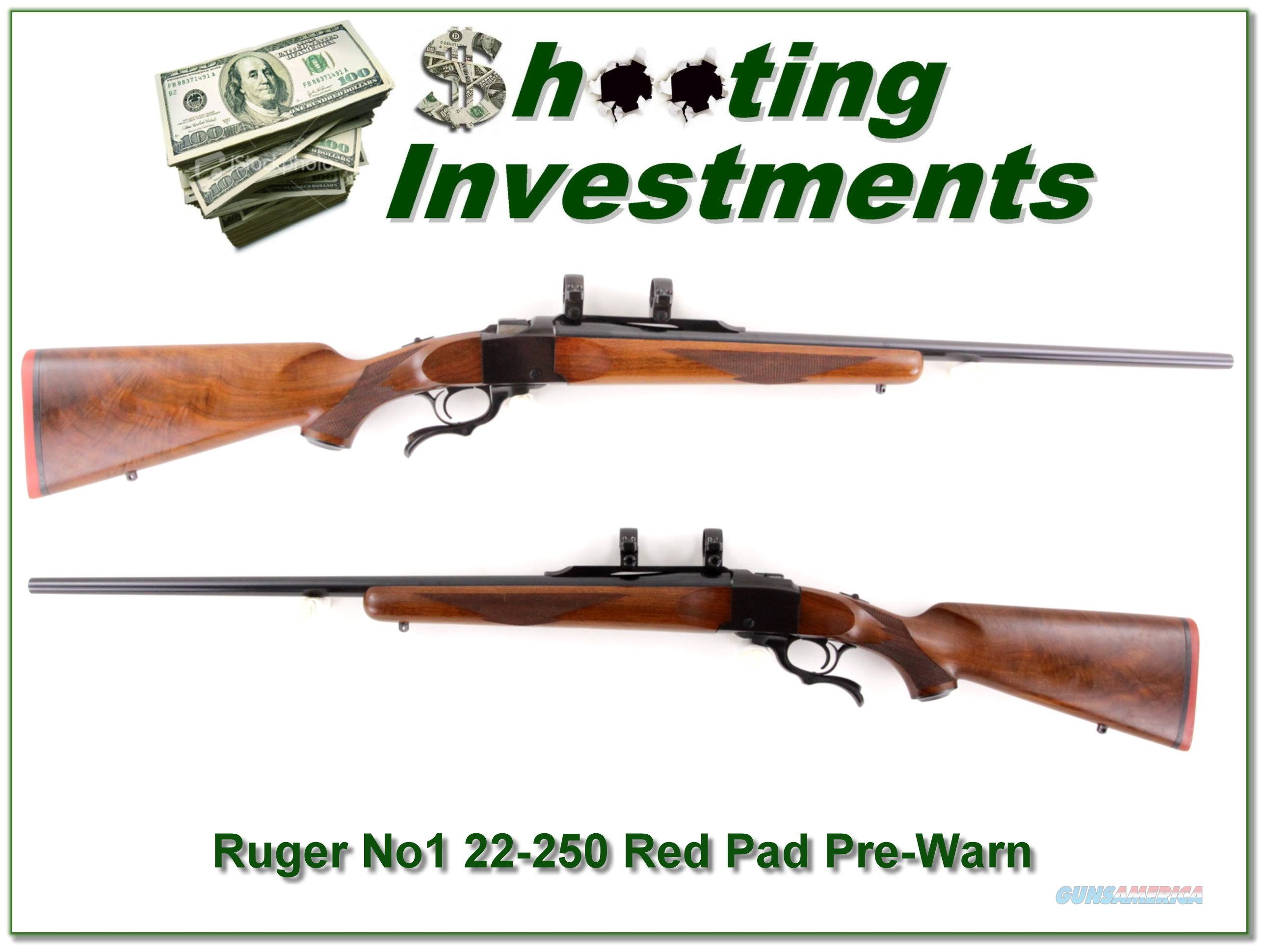 Ruger No.1 Red Pad Pre-Warning 22-250 collector  Guns > Rifles > Ruger Rifles > #1 Type