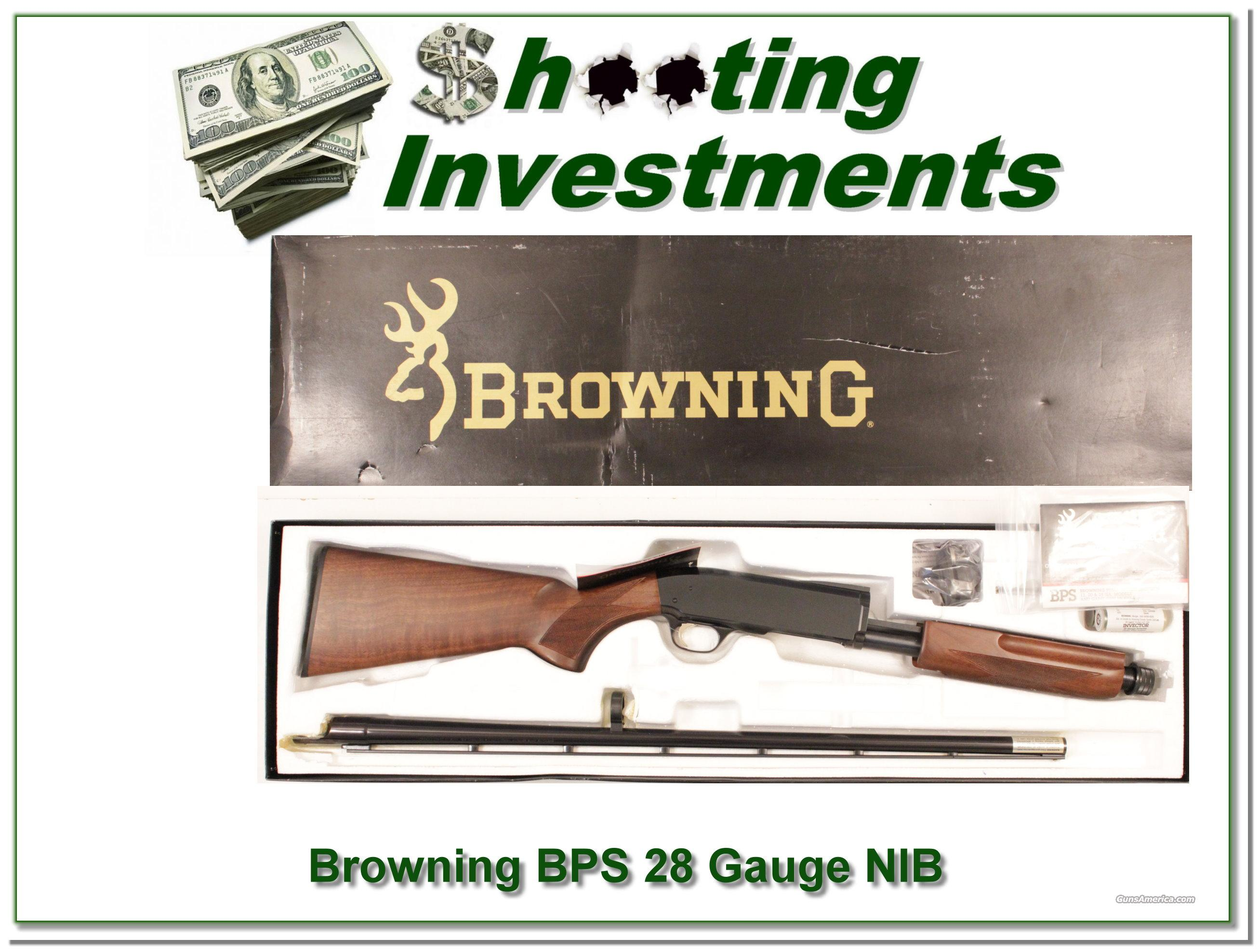 Browning BPS 28 Gauge NIB hard to find  Guns > Shotguns > Browning Shotguns > Pump Action > Hunting