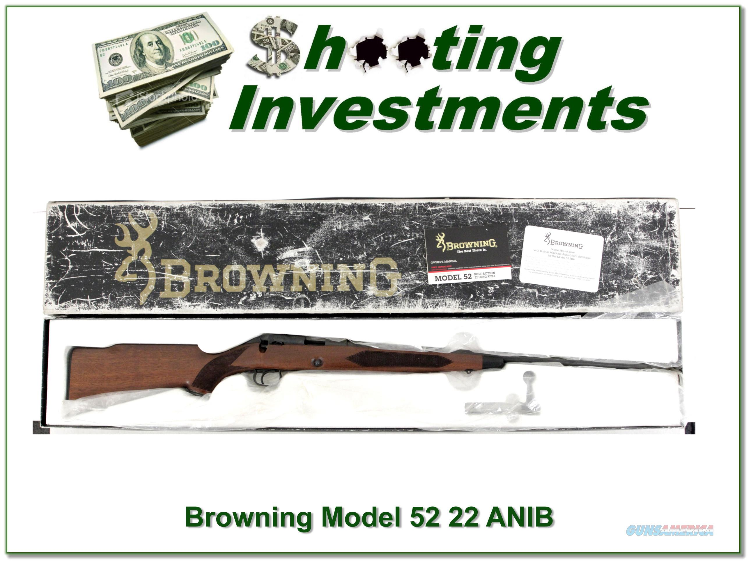 Browning Model 52 Exc Cond in box!  Guns > Rifles > Browning Rifles > Bolt Action > Hunting > Blue