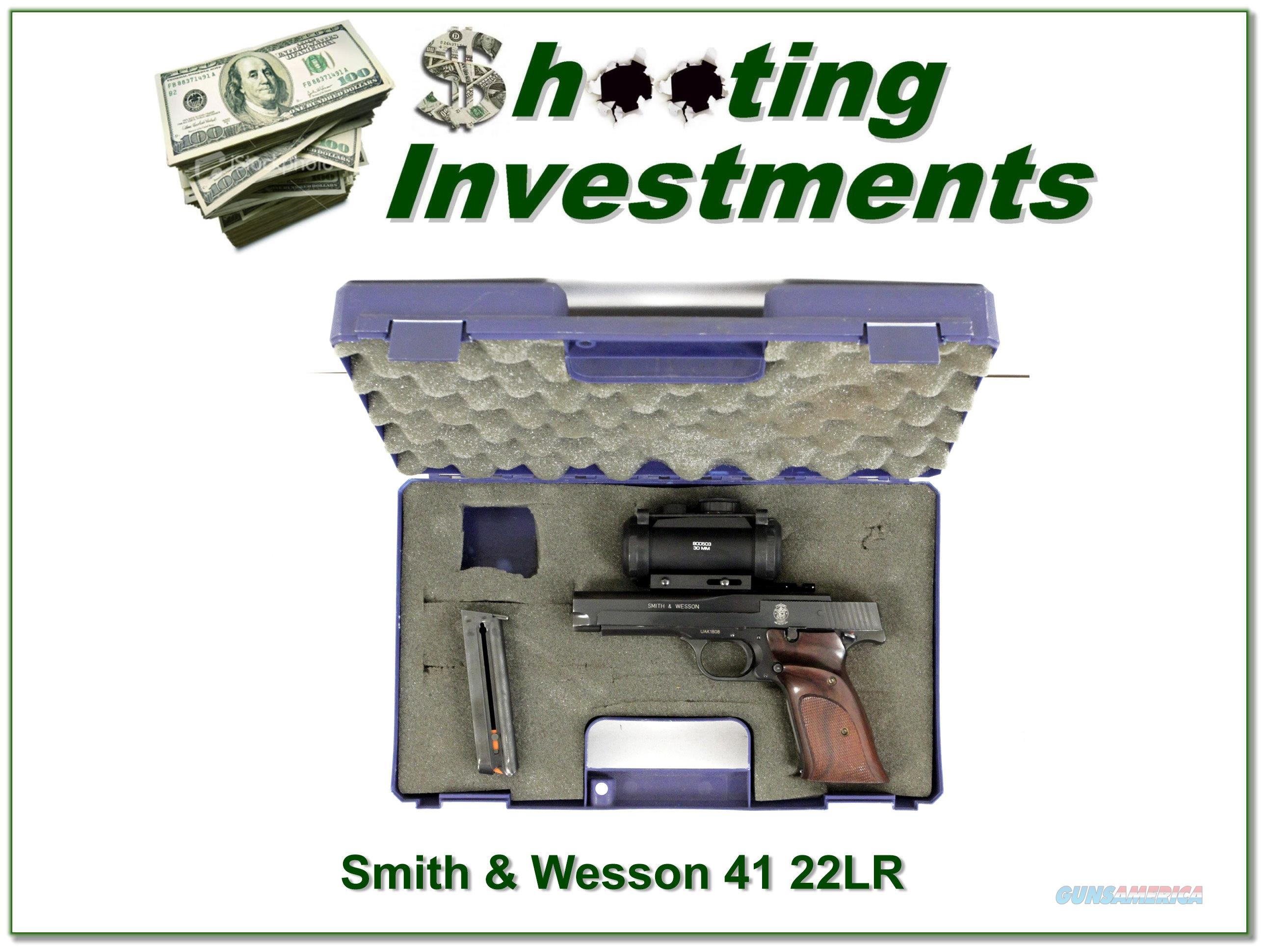 Smith & Wesson Model 41 5in scope barrel and scope in case  Guns > Pistols > Smith & Wesson Pistols - Autos > .22 Autos