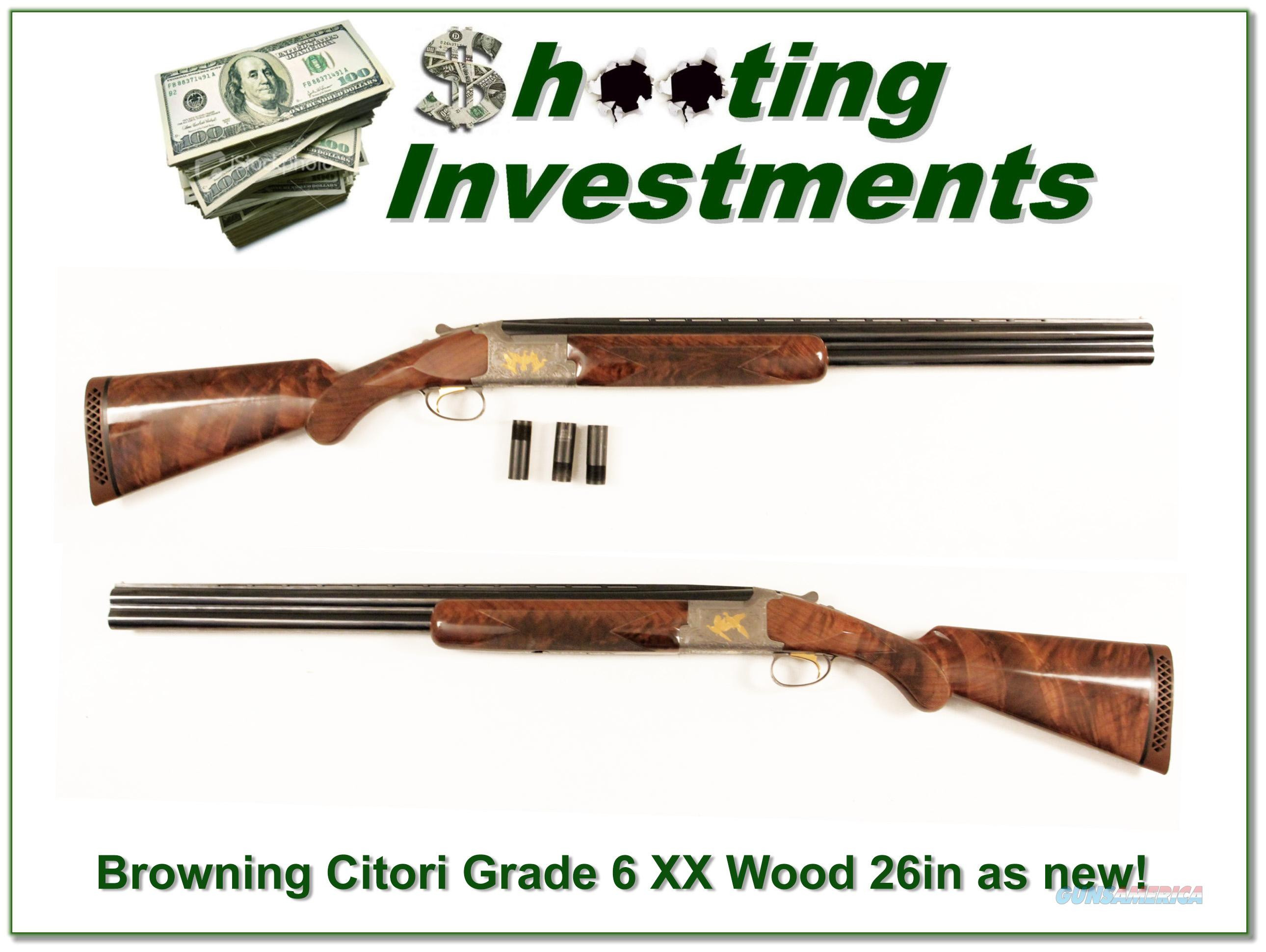 Browning Citori Grade VI 12 Gauge XX Wood as new!  Guns > Shotguns > Browning Shotguns > Over Unders > Citori > Hunting