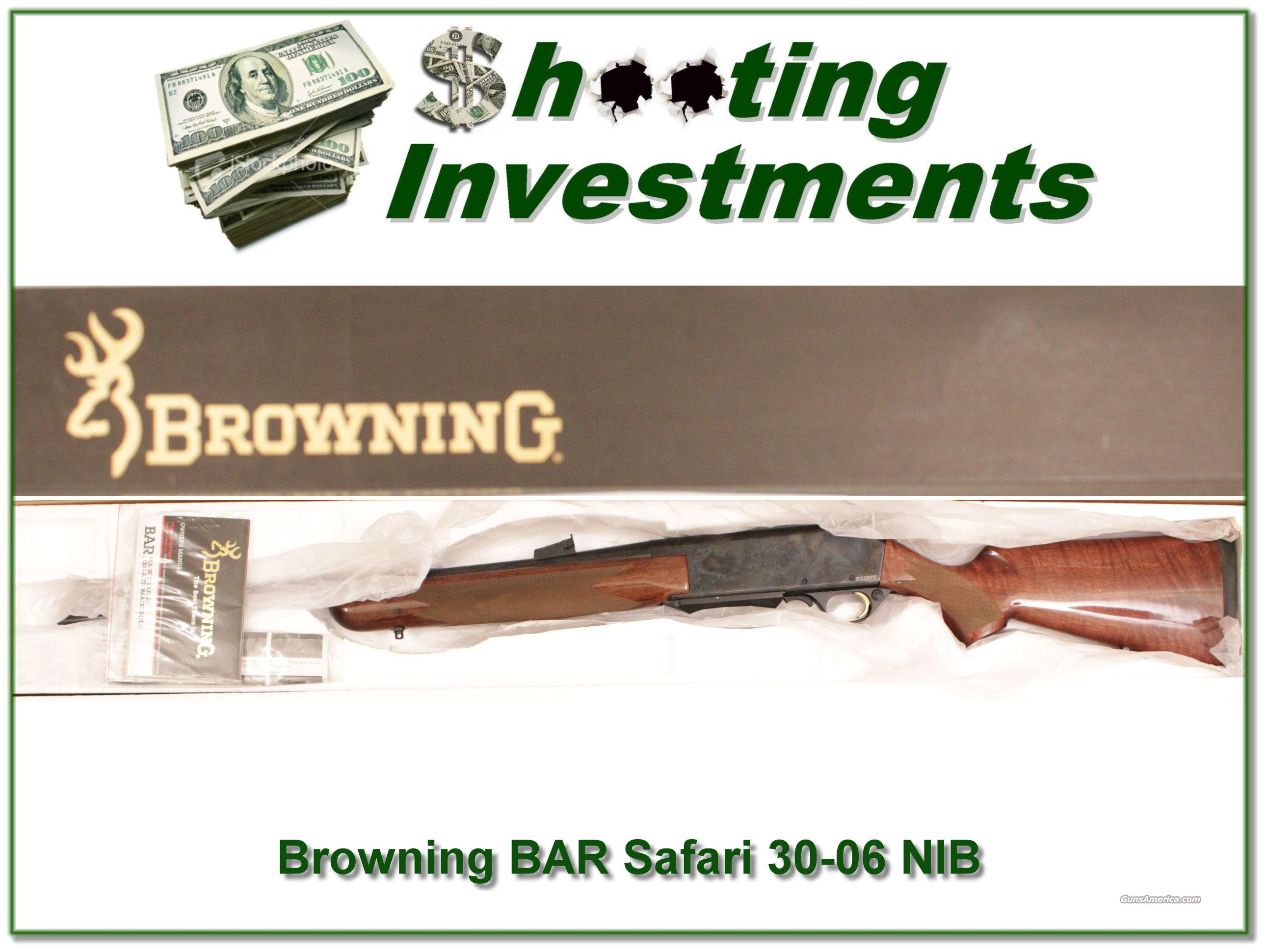 Browning BAR Safari Grade 30-06 NIB  Guns > Rifles > Browning Rifles > Semi Auto > Hunting