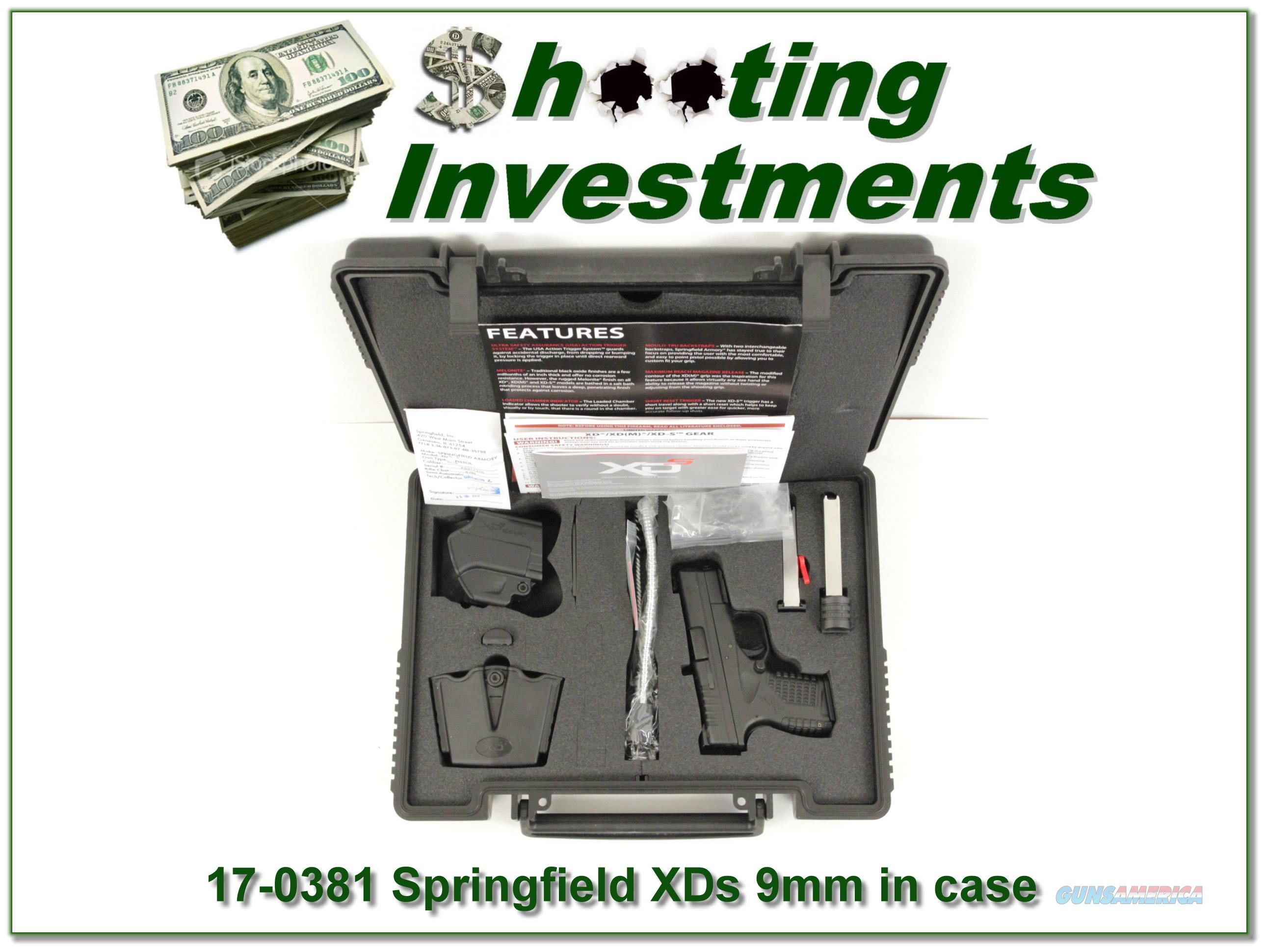 Springfield Armory XDs 9mm in box!  Guns > Pistols > Springfield Armory Pistols > XD-S