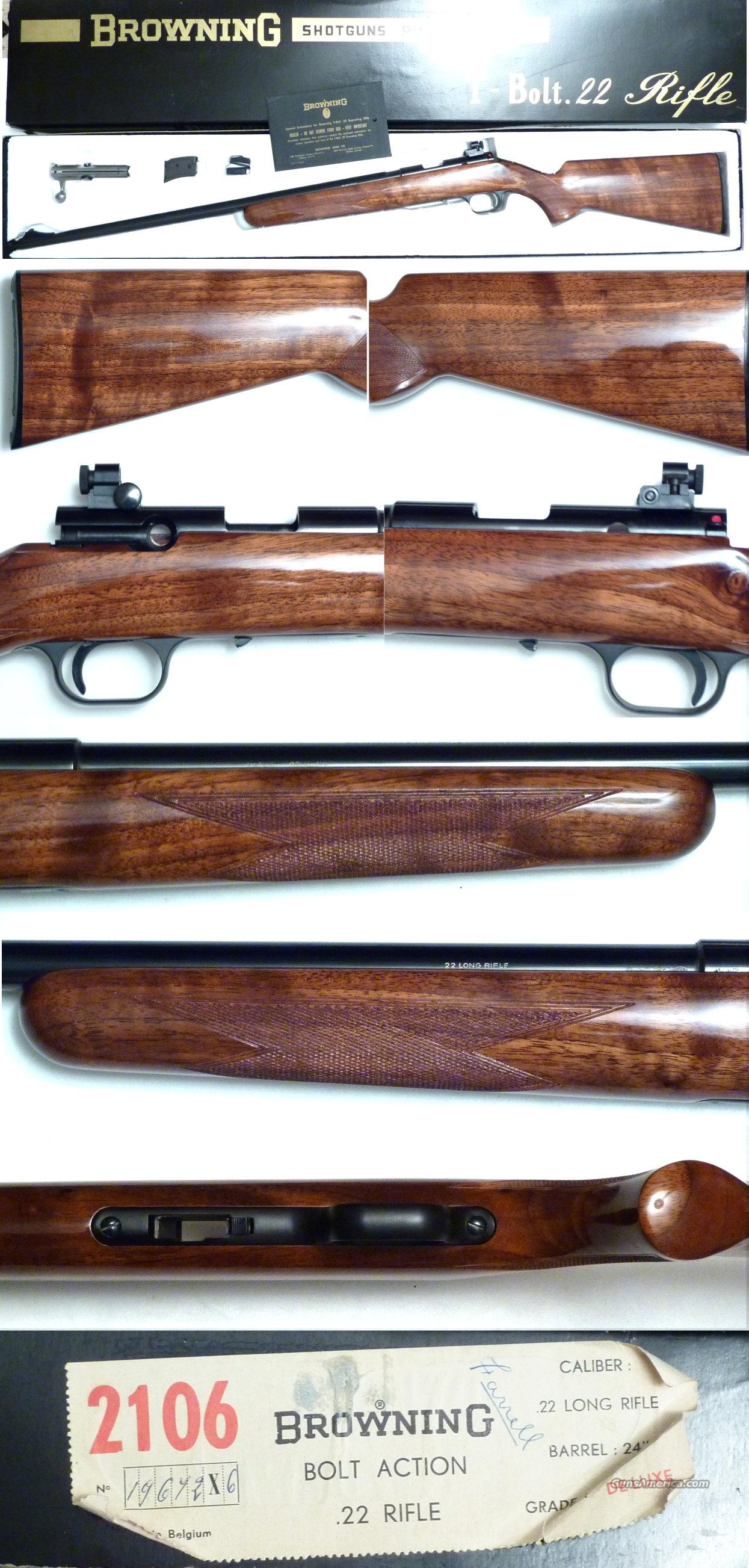Belgium Browning T-bolt Deluxe NIB  Guns > Rifles > Browning Rifles > Bolt Action > Hunting > Blue