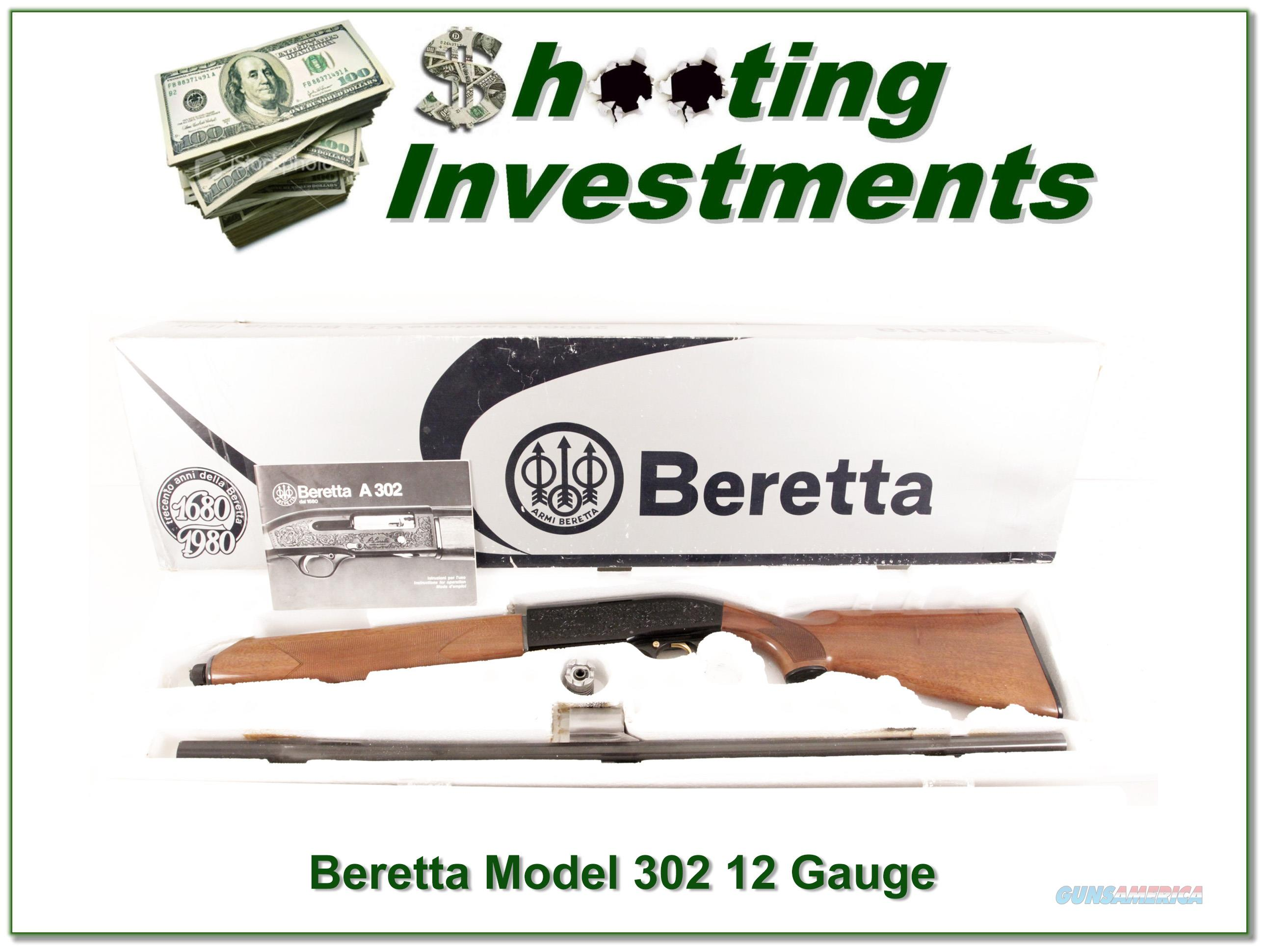 Beretta Model A302 12 Gauge 30in nice!  Guns > Shotguns > Beretta Shotguns > Autoloaders > Hunting