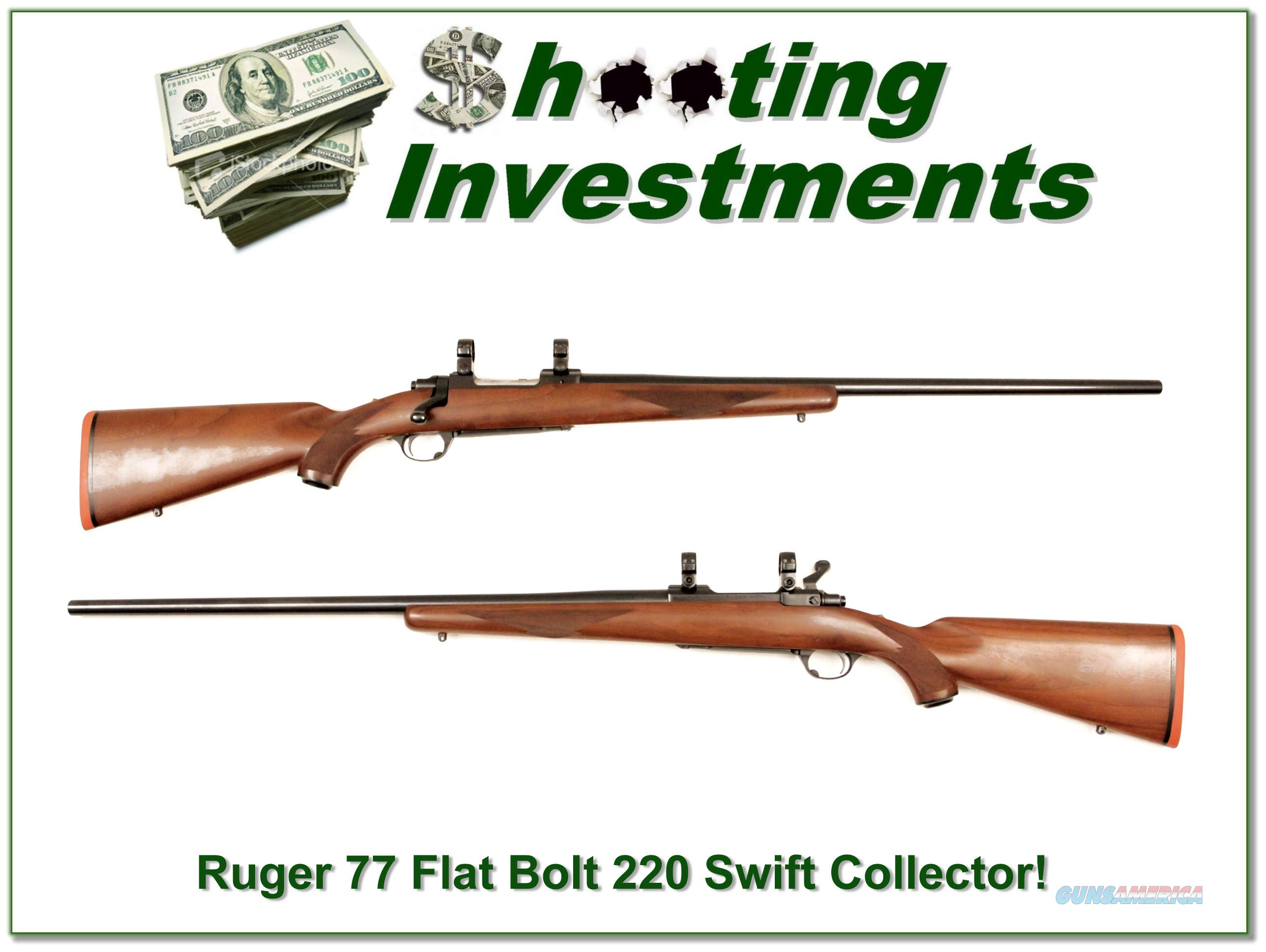 Ruger 77 Flat Bolt 220 Swift Medium Heavy barrel collector!  Guns > Rifles > Ruger Rifles > Model 77