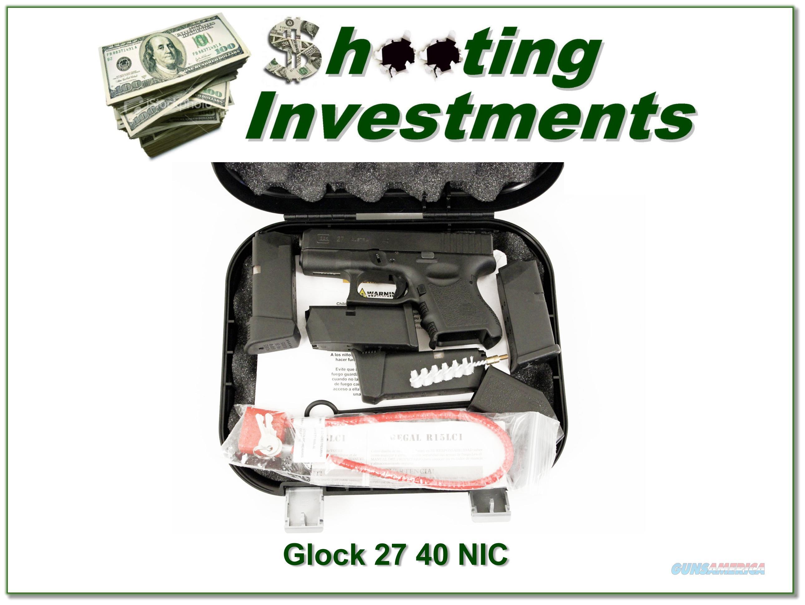 Glock 27 4 S&W NIC!  Guns > Pistols > Glock Pistols > 26/27