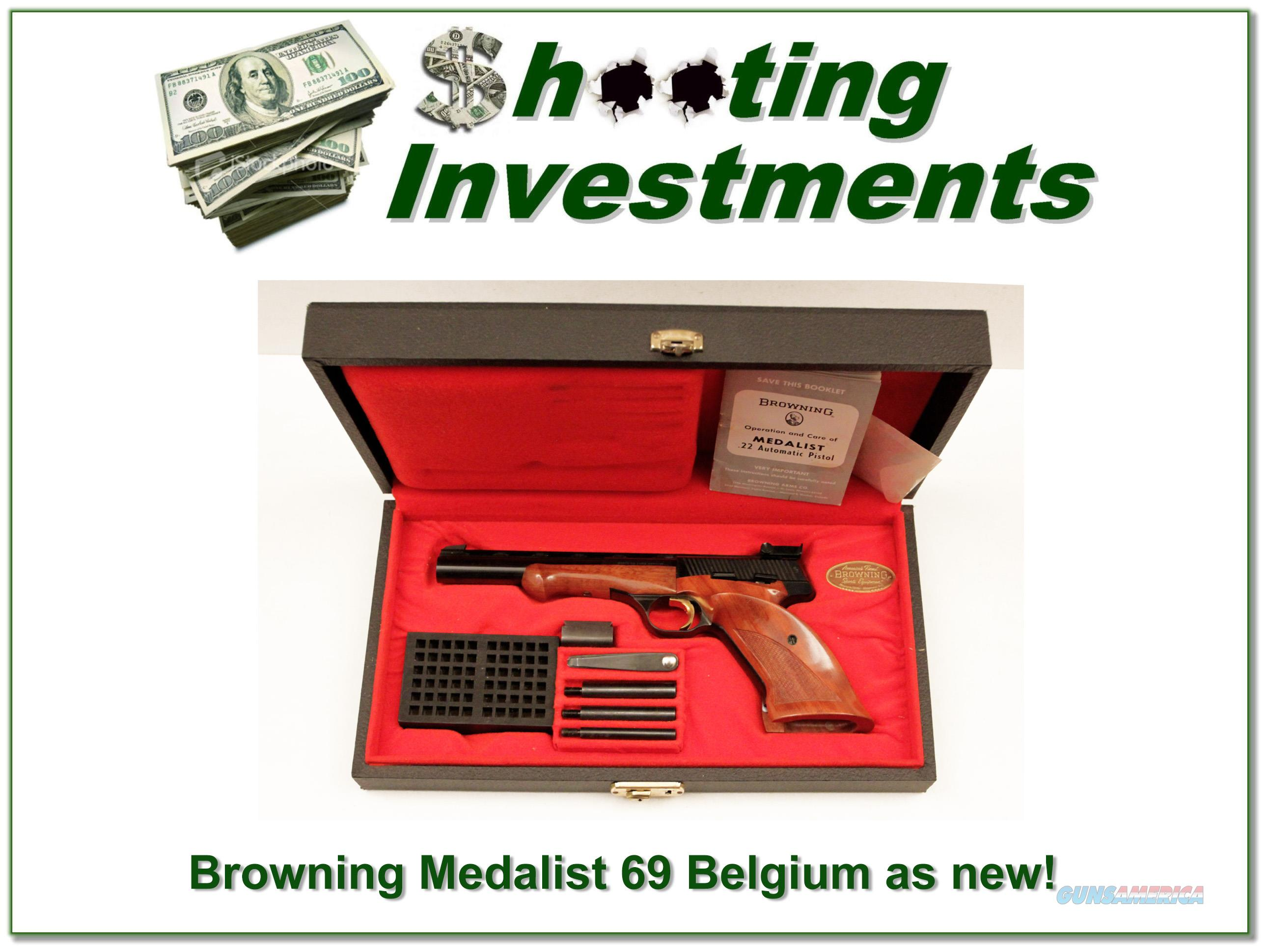Browning Medalist 22 Auto collector condition in case!  Guns > Pistols > Browning Pistols > Other Autos