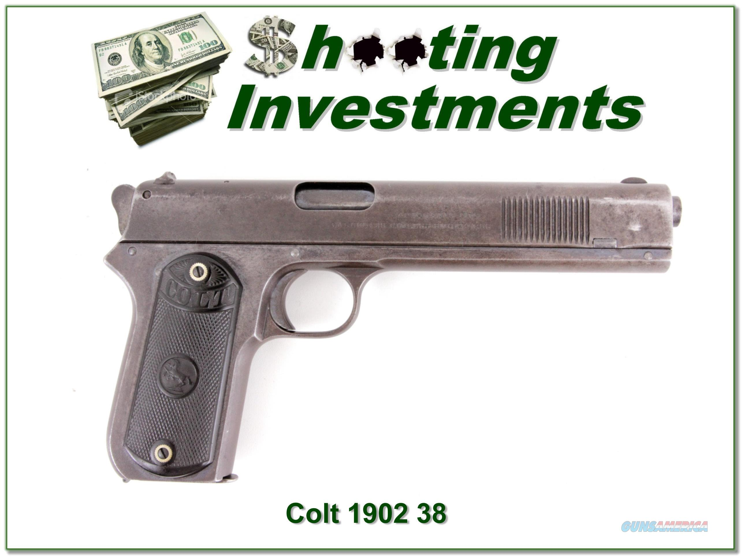 Colt 1902 Sporting 38 ACP made in 1904 all original!  Guns > Pistols > Colt Automatic Pistols (1911 & Var)