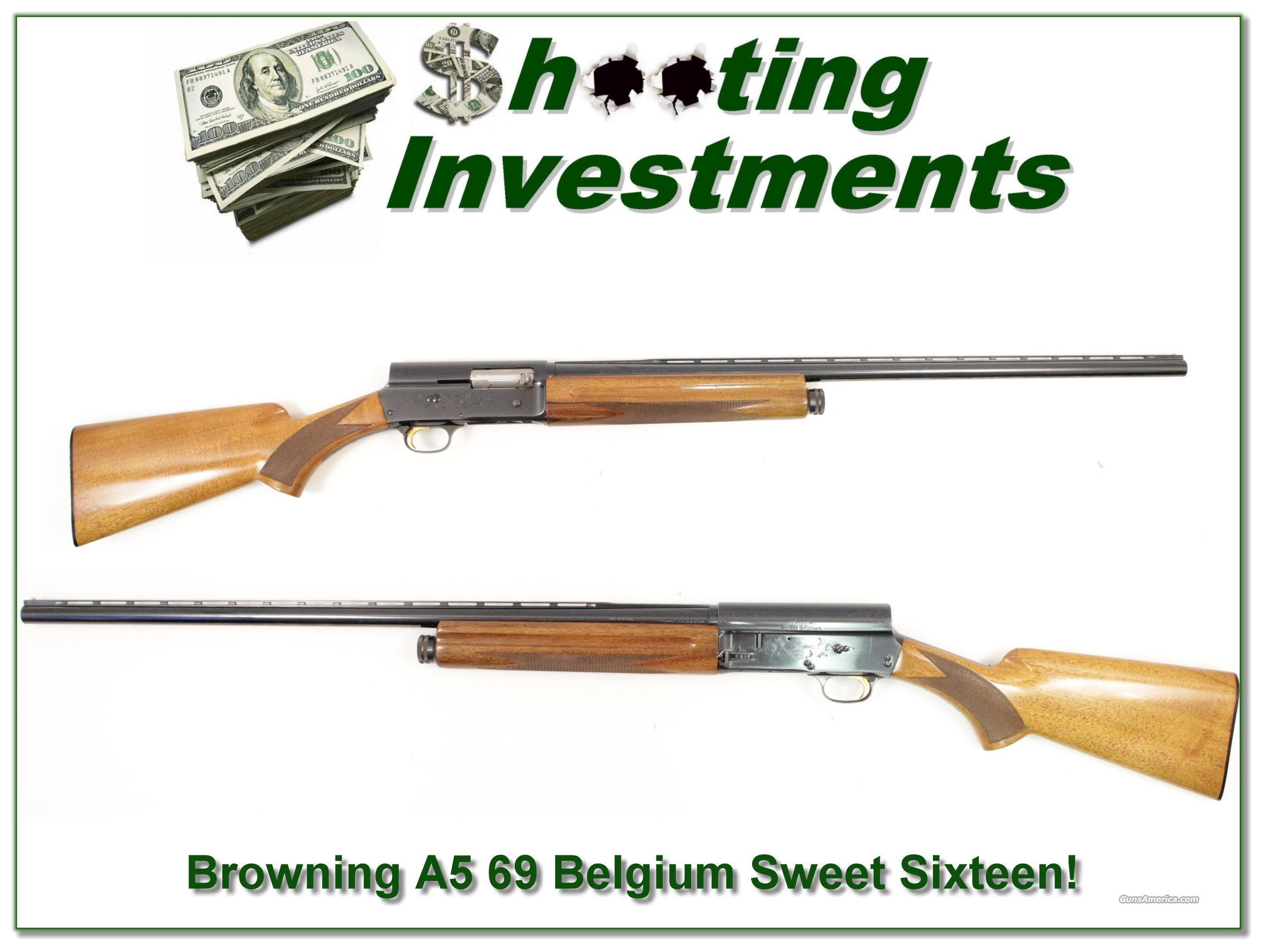 Browning A5 Sweet Sixteen 69 Belgium Blond Vent Rib  Guns > Shotguns > Browning Shotguns > Autoloaders > Hunting