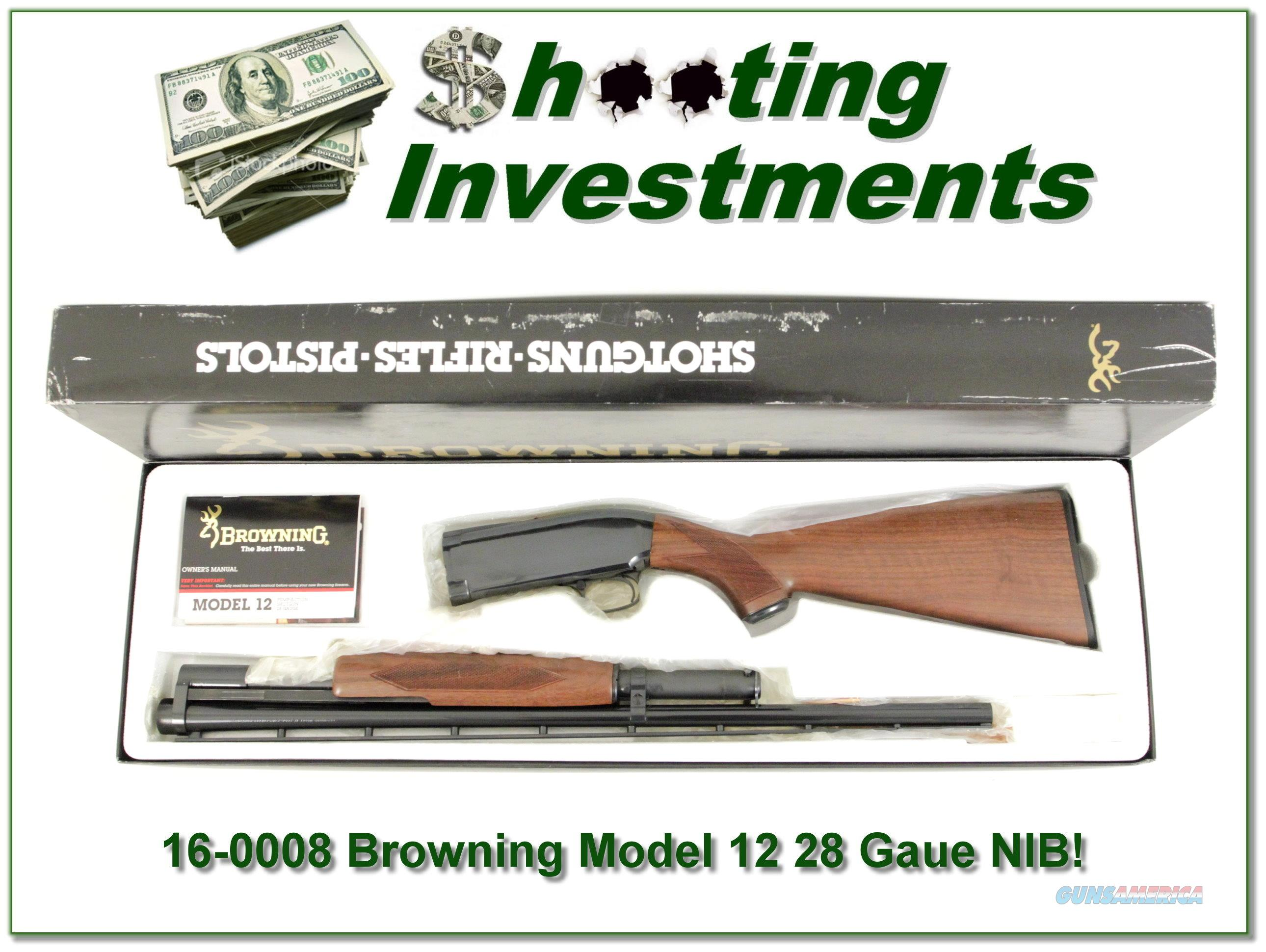 Browning Model 12 28 Gauge NEW in BOX!  Guns > Shotguns > Browning Shotguns > Pump Action > Hunting