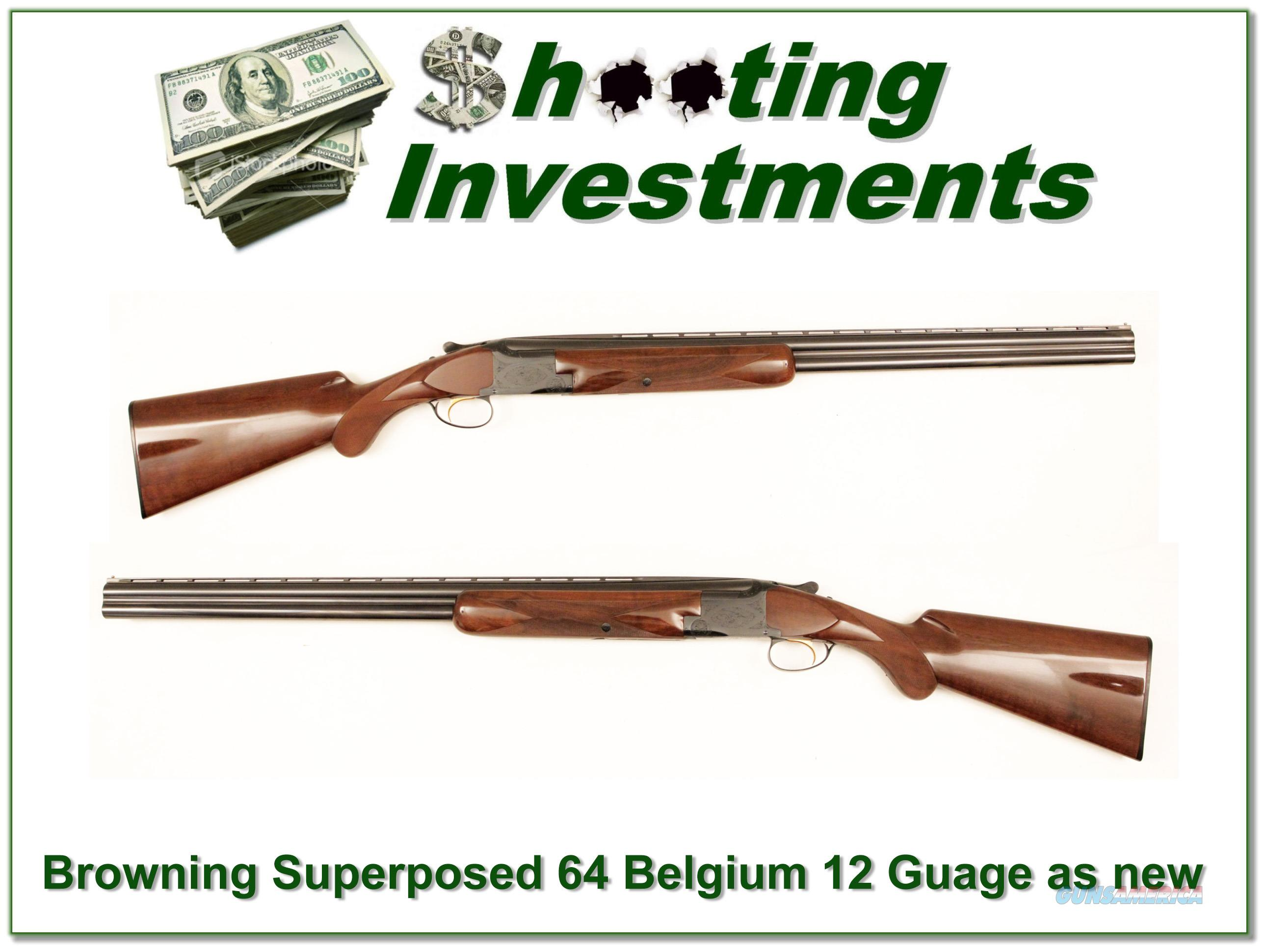 Browning Superposed 12 Gauge 64 Belgium RKLT as new!  Guns > Shotguns > Browning Shotguns > Over Unders > Belgian Manufacture