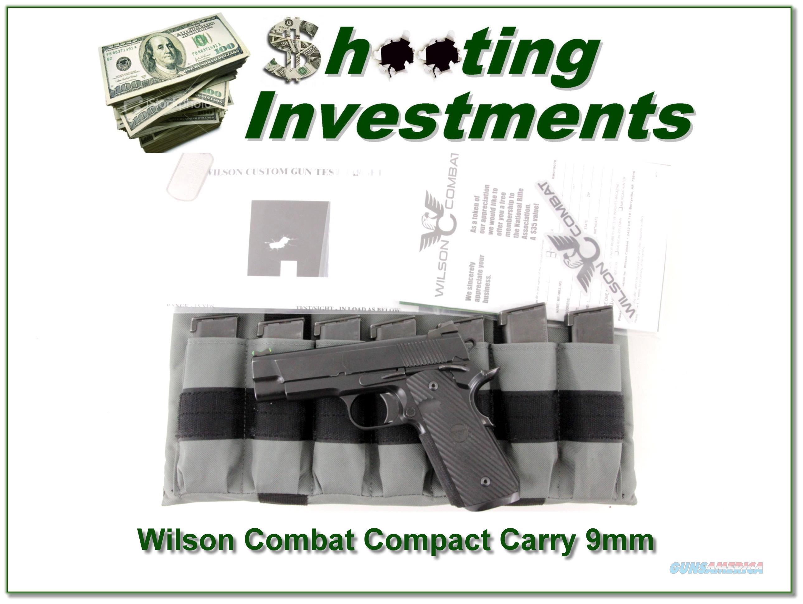 Wilson Compact Compact Carry 9mm 10 Magazines  Guns > Pistols > Wilson Combat Pistols