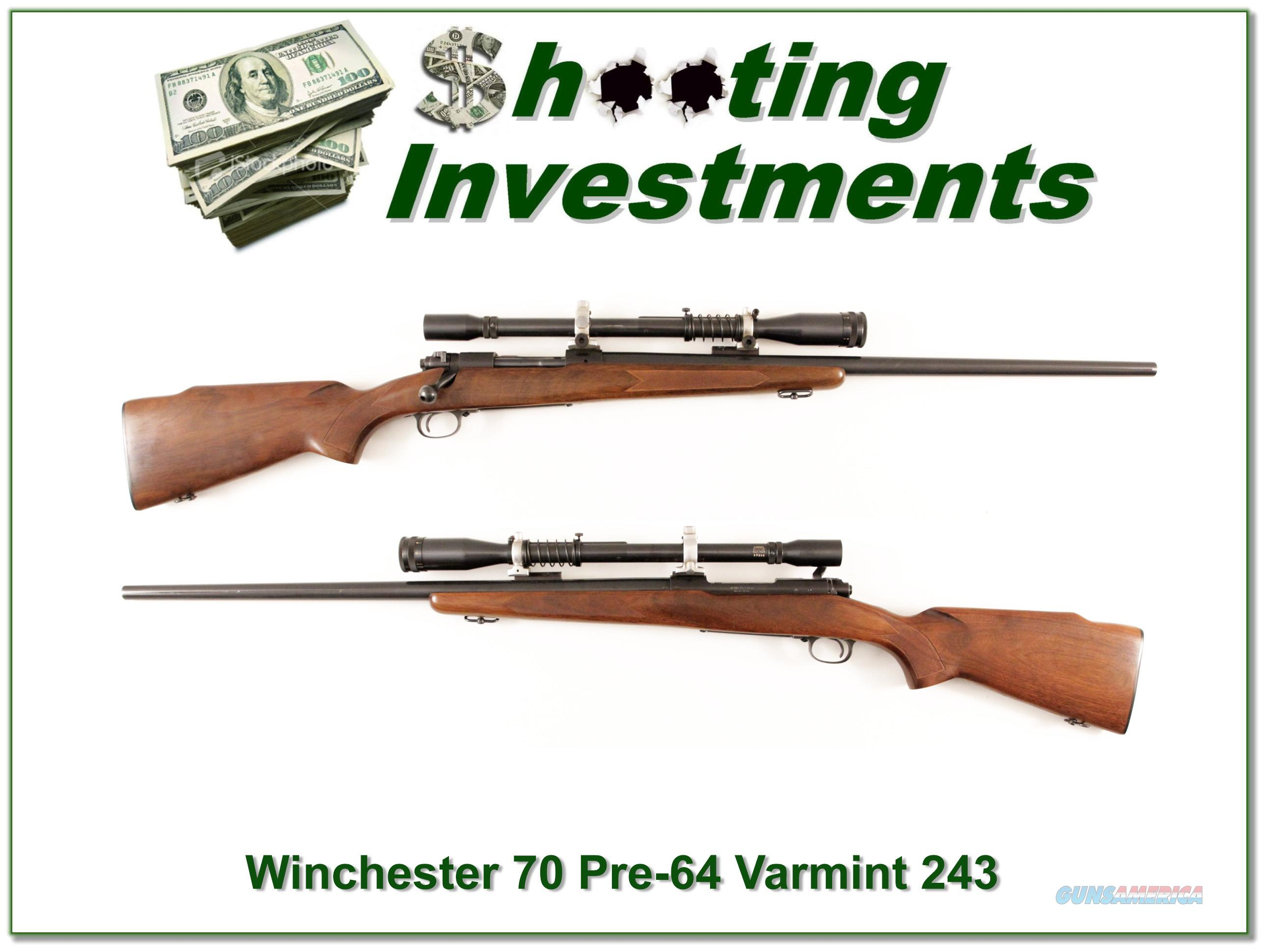 Winchester Pre-64 Varmint HB in 243 with period scope  Guns > Rifles > Winchester Rifles - Modern Bolt/Auto/Single > Other Bolt Action