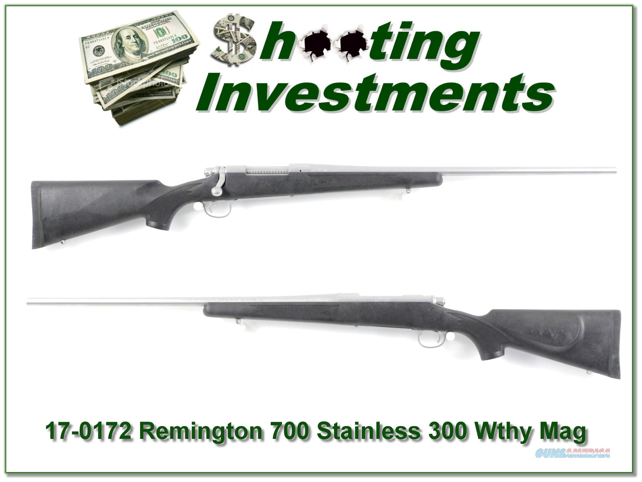 Remington 700 BDL Stainless in 300 Weatherby Magnum!  Guns > Rifles > Remington Rifles - Modern > Model 700 > Sporting