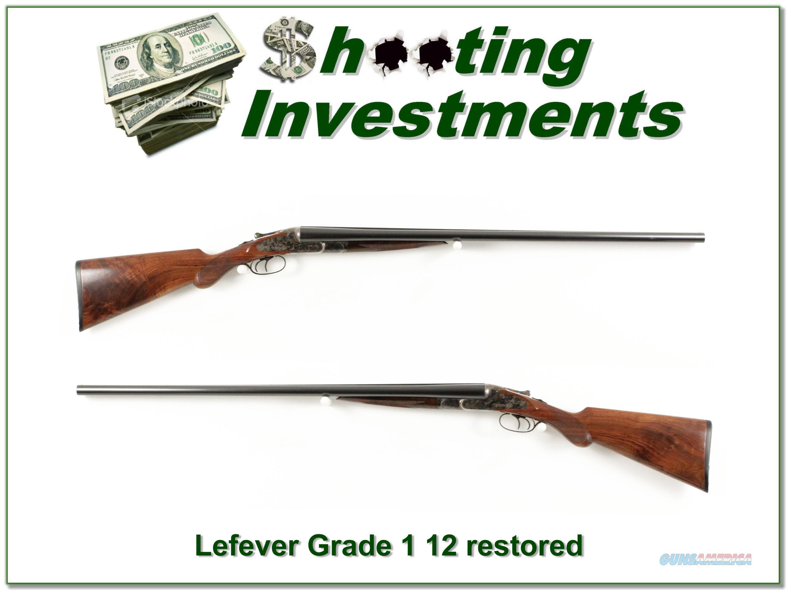 Lefever Grade 1 12 Gauge fully restored made in 1883!   Guns > Shotguns > Lefever Shotguns