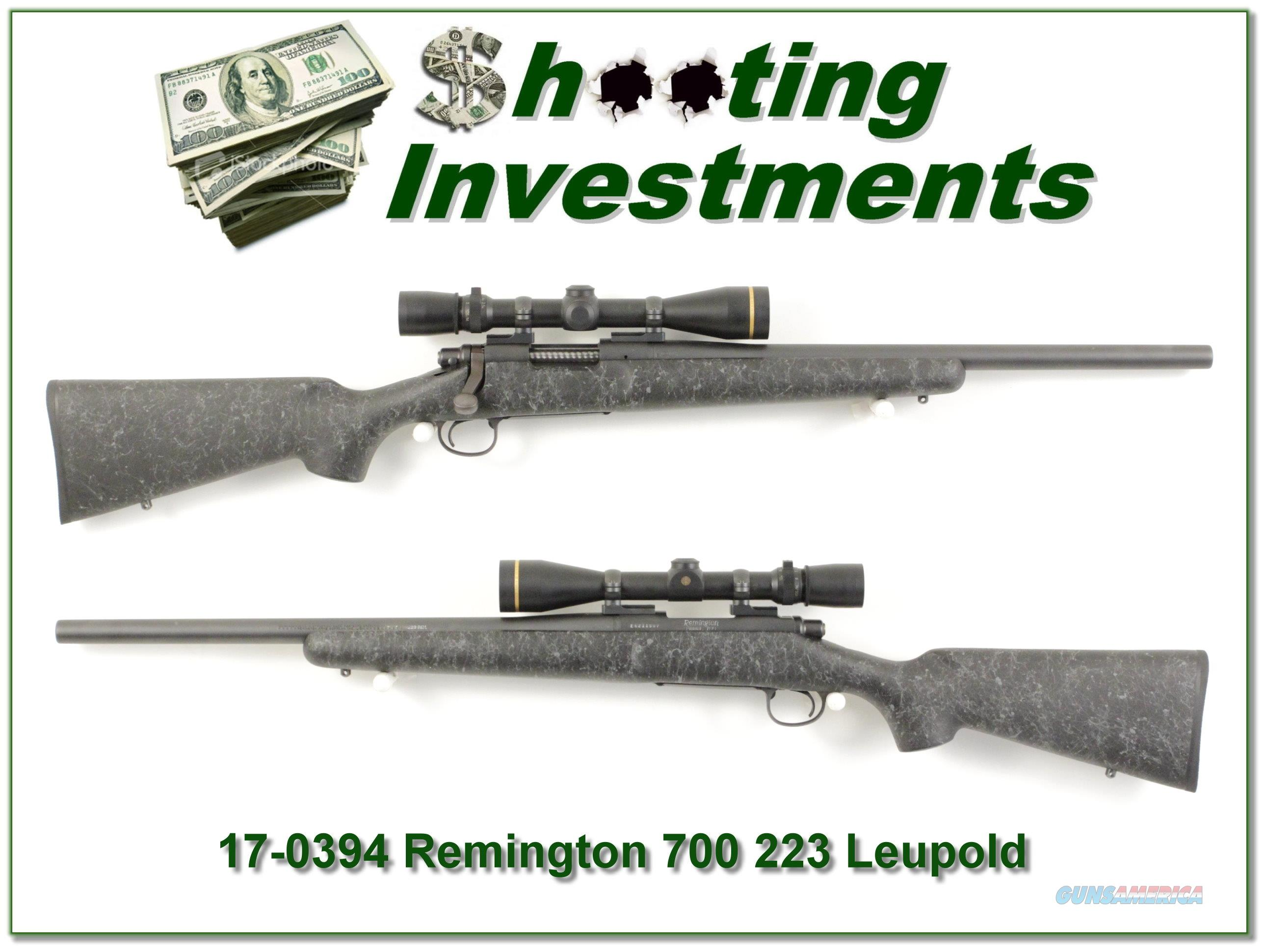 Remington 700 BDI Varmint 223 w/ Leupold Vari-X III!  Guns > Rifles > Remington Rifles - Modern > Model 700 > Sporting