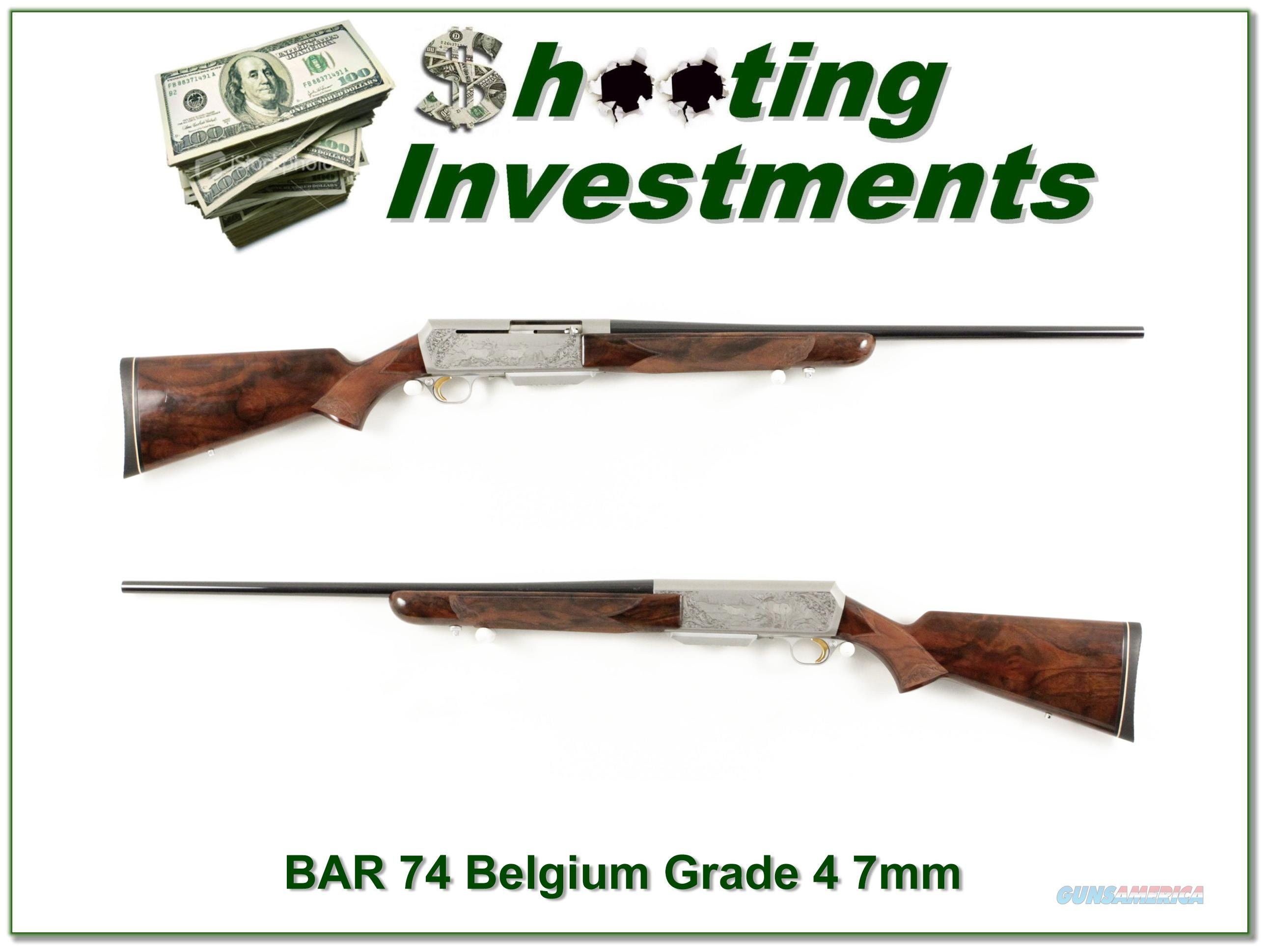 Browning BAR 74 Belgium Double Signed Grade 4 7mm  Guns > Rifles > Browning Rifles > Semi Auto > Hunting
