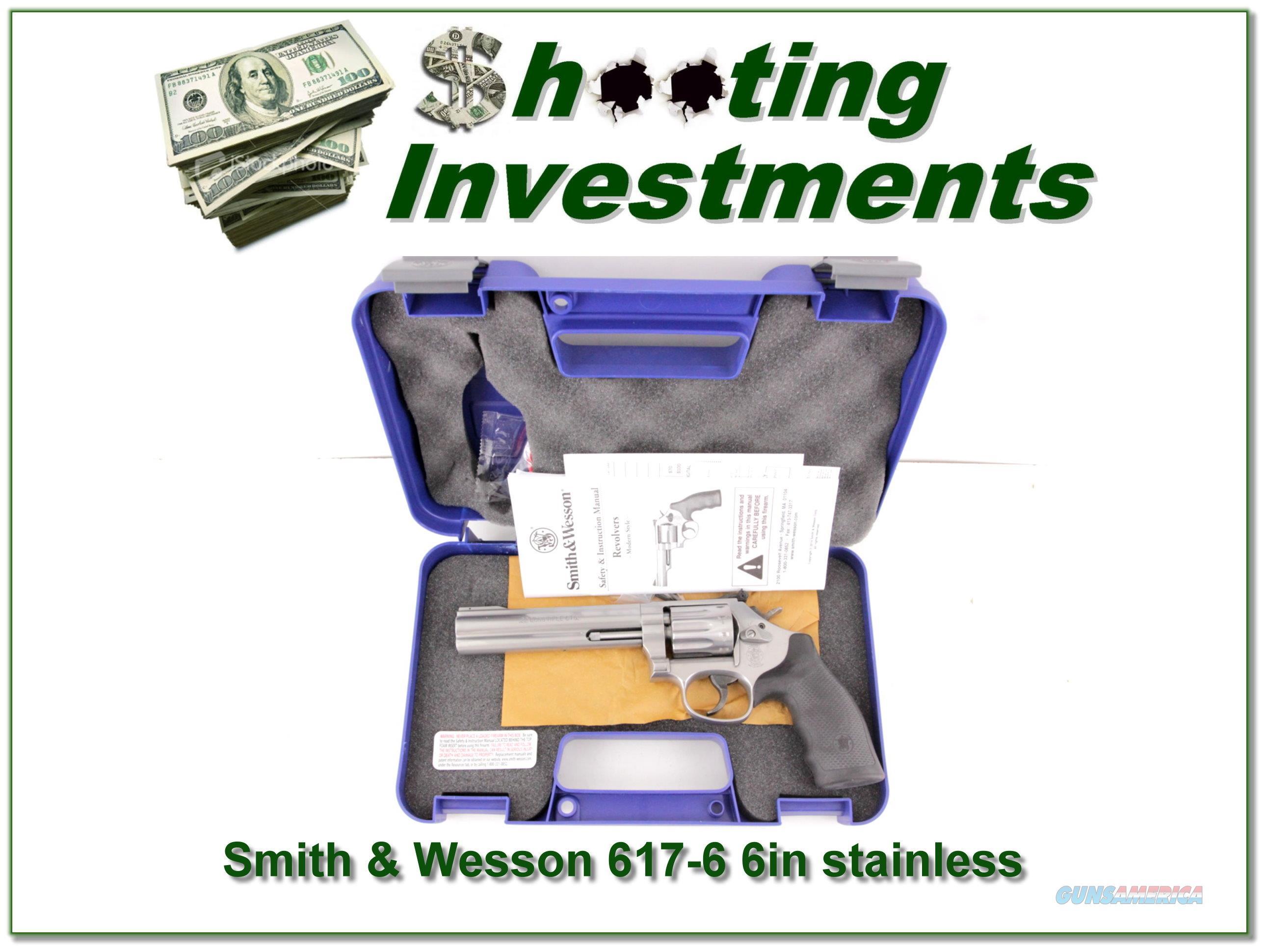 Smith & Wesson 617-6 6in Stainless 22LR LNIC  Guns > Pistols > Smith & Wesson Revolvers > Full Frame Revolver