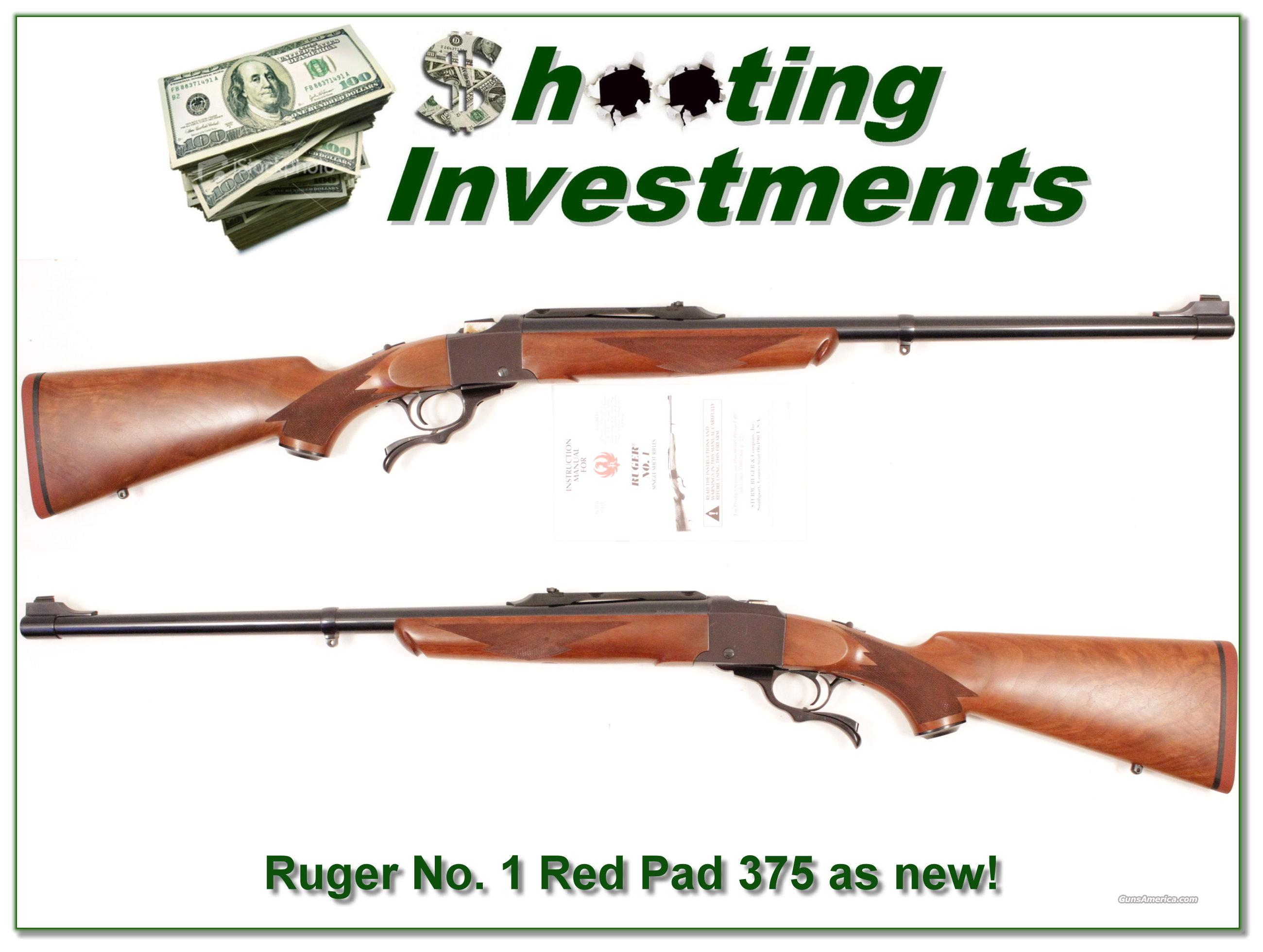 Ruger No. 1 #1 Tropical Red Pad 375 H&H as new  Guns > Rifles > Ruger Rifles > #1 Type