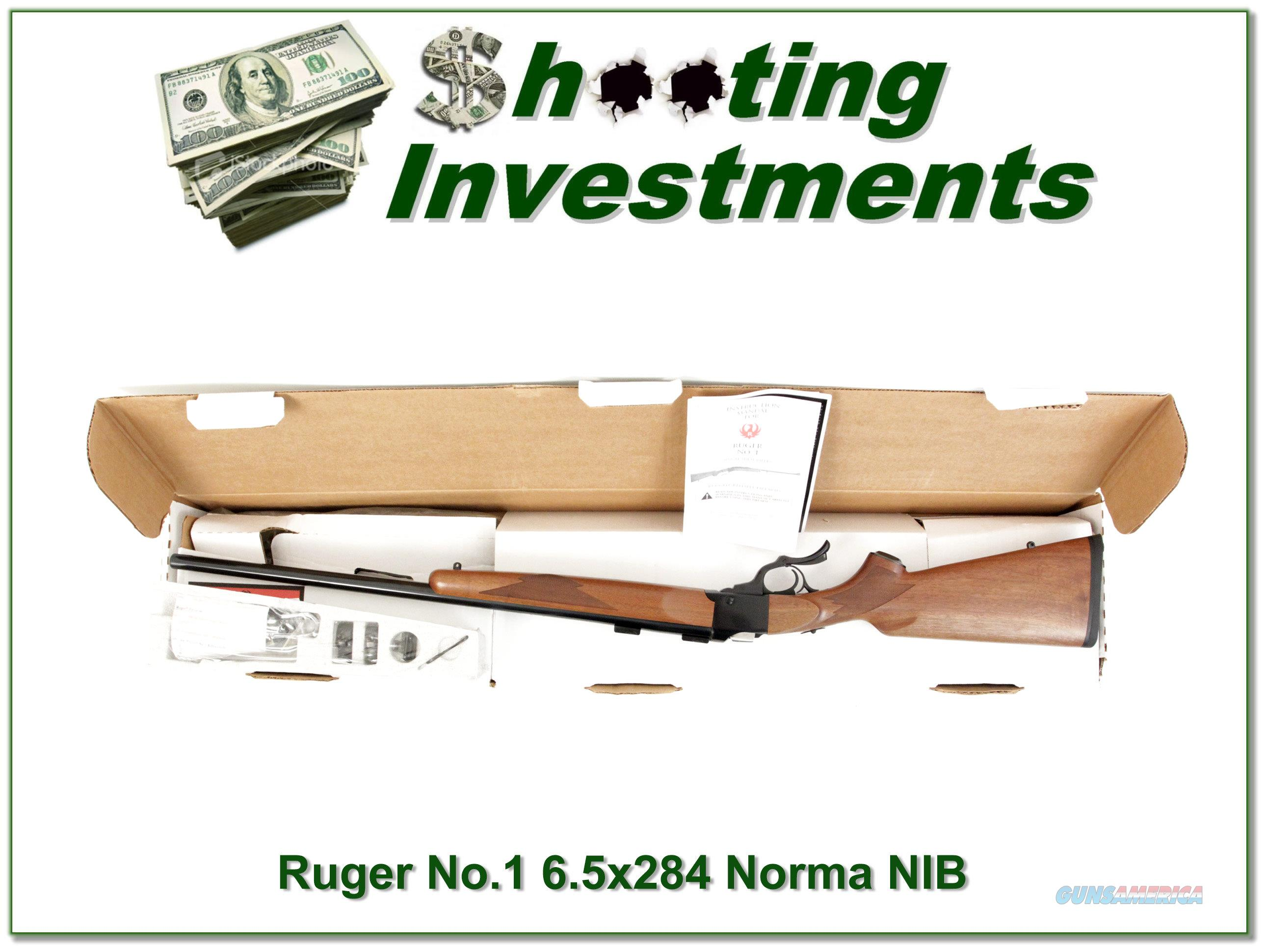 Ruger No.1 V in rare 6.5x284 Norma ANIB!  Guns > Rifles > Ruger Rifles > #1 Type