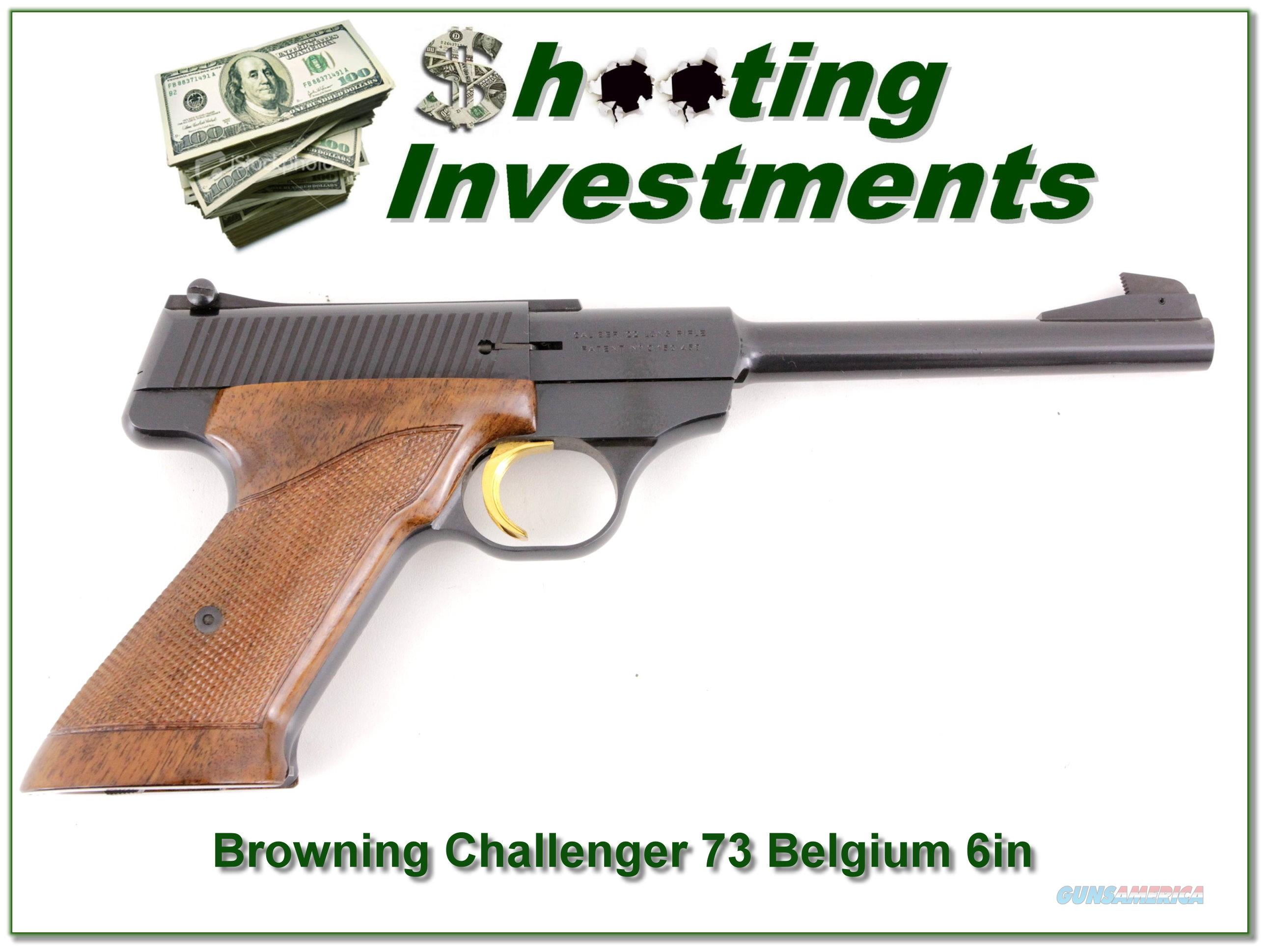Browning Challenger 1973 Belgium 6in 22LR Exc Cond!  Guns > Pistols > Browning Pistols > Other Autos