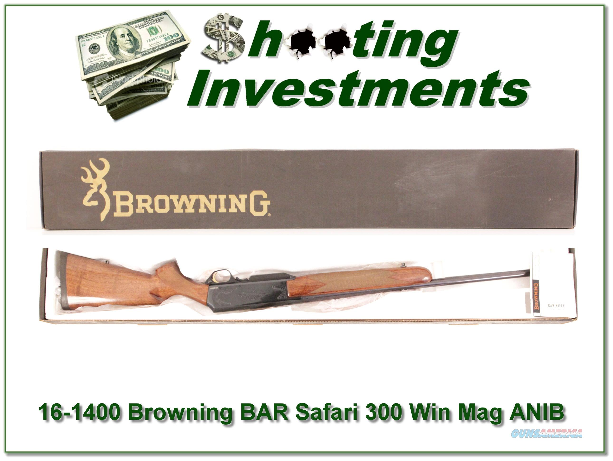 Browning BAR Safari 300 WIN ANIB!  Guns > Rifles > Browning Rifles > Semi Auto > Hunting