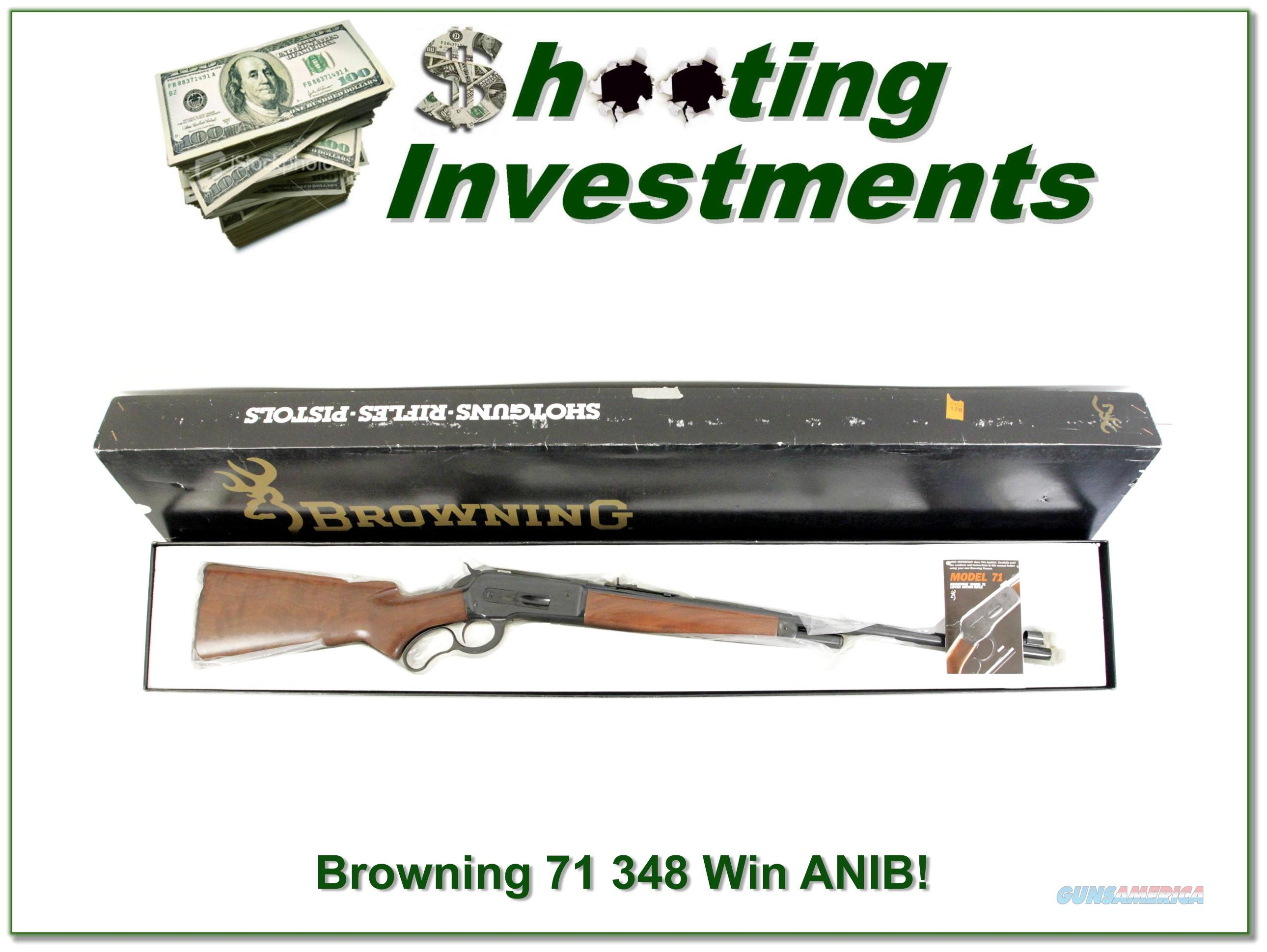 Browning Model 71 348 Win 24in rifle NIB!  Guns > Rifles > Browning Rifles > Lever Action