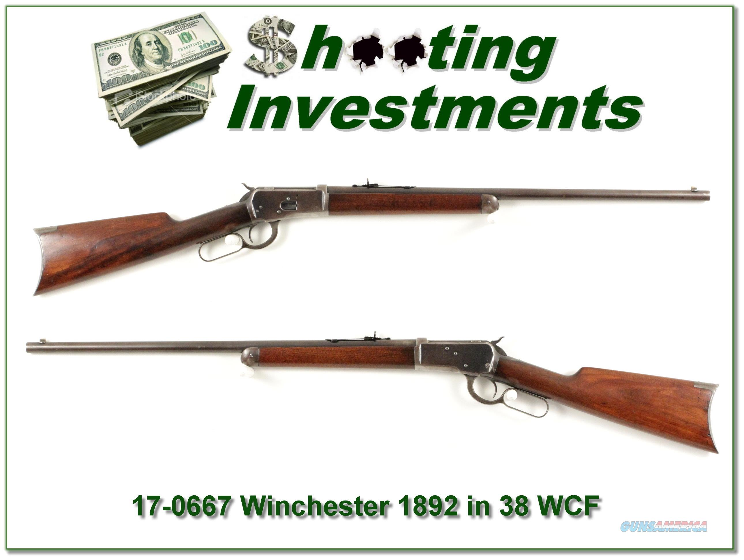 Winchester 1892 38 WCF made in 1909 round barrel  Guns > Rifles > Winchester Rifles - Modern Lever > Other Lever > Pre-64