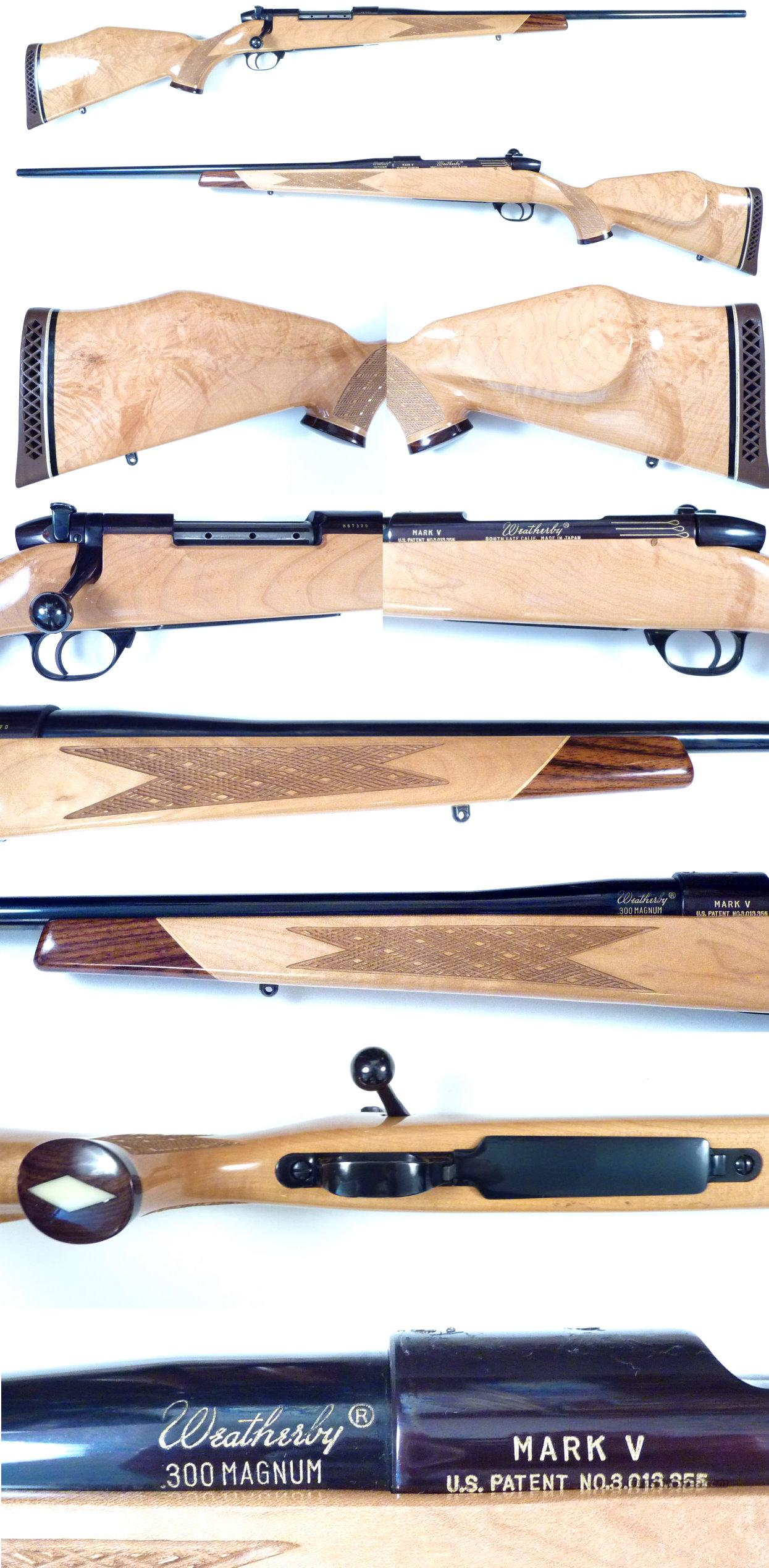 Weatherby Mark V Deluxe 300 Blond XXX Maple  Guns > Rifles > Weatherby Rifles > Sporting