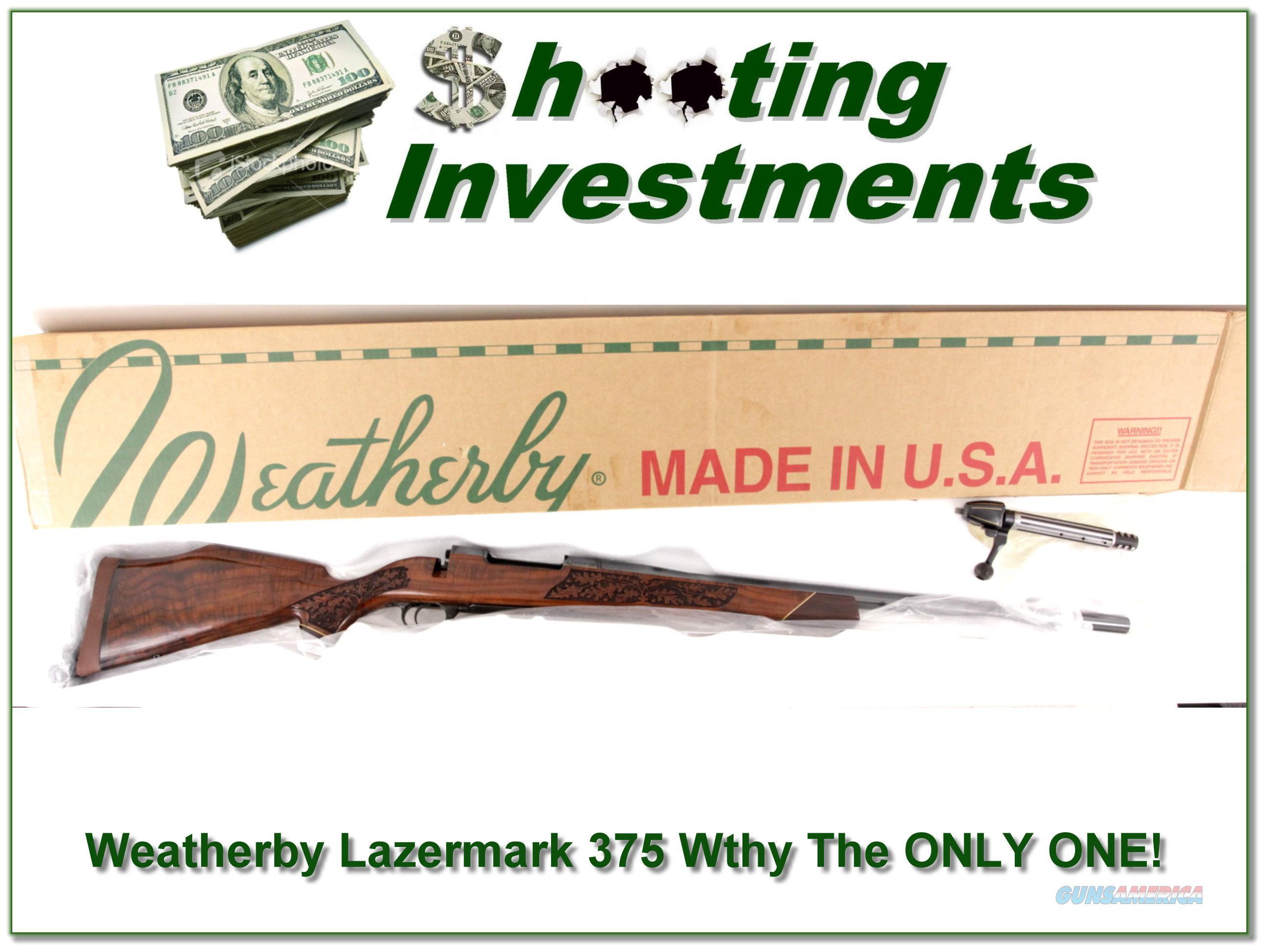 Weatherby Custom Shop 375 Wthy Lazermark  Guns > Rifles > Weatherby Rifles > Sporting
